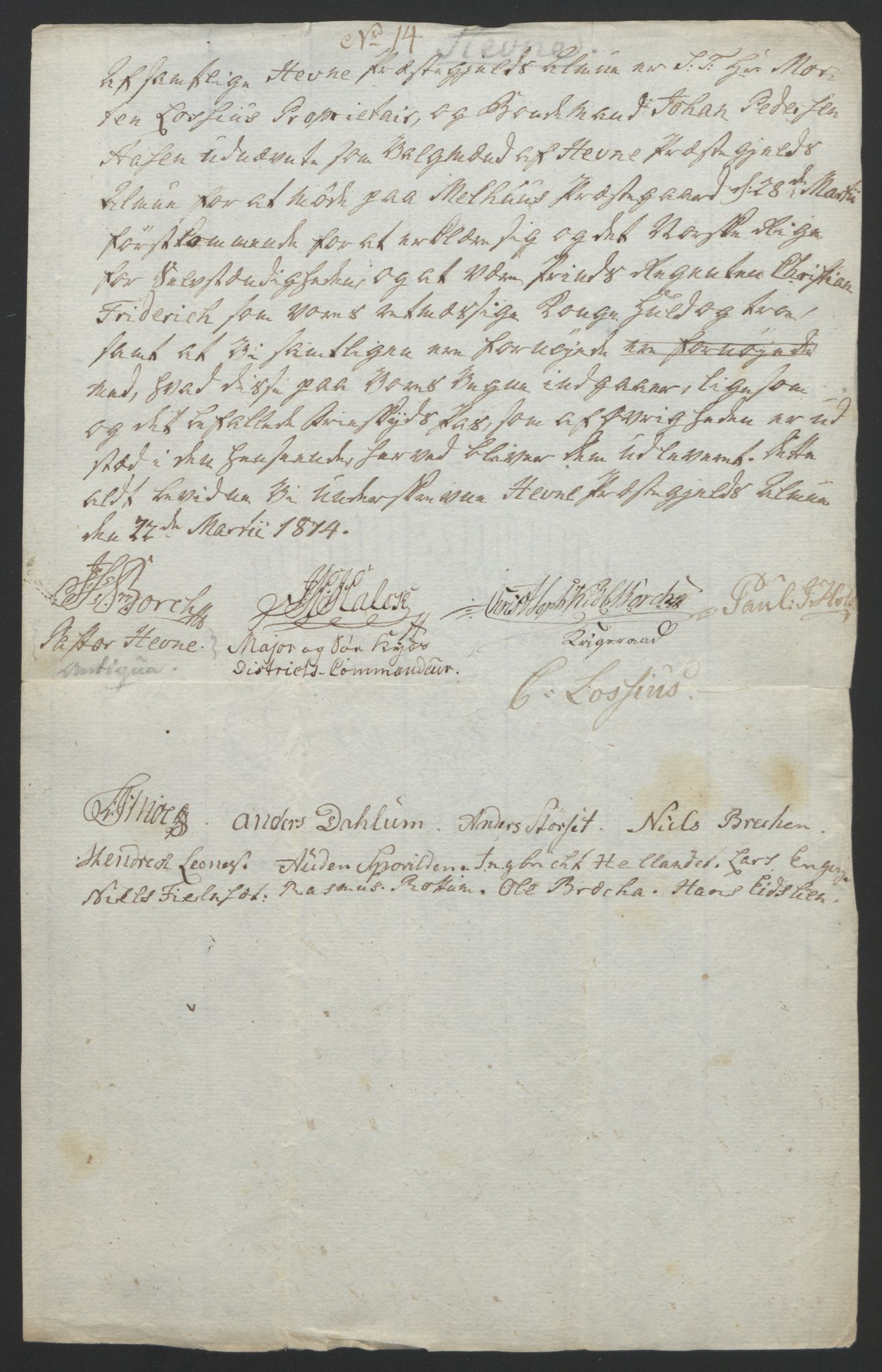 RA, Statsrådssekretariatet, D/Db/L0008: Fullmakter for Eidsvollsrepresentantene i 1814. , 1814, s. 434