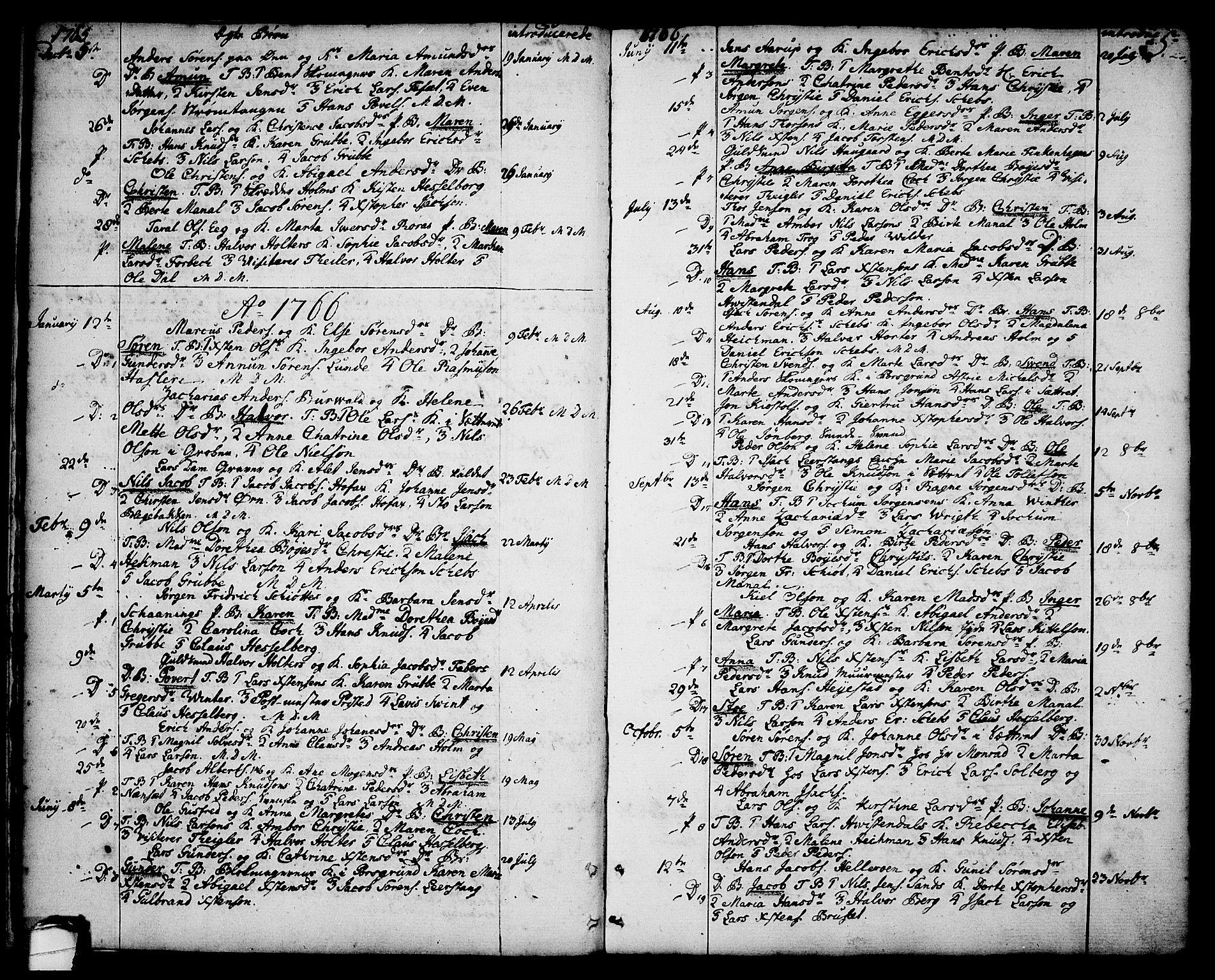 SAKO, Brevik kirkebøker, F/Fa/L0003: Ministerialbok nr. 3, 1764-1814, s. 5