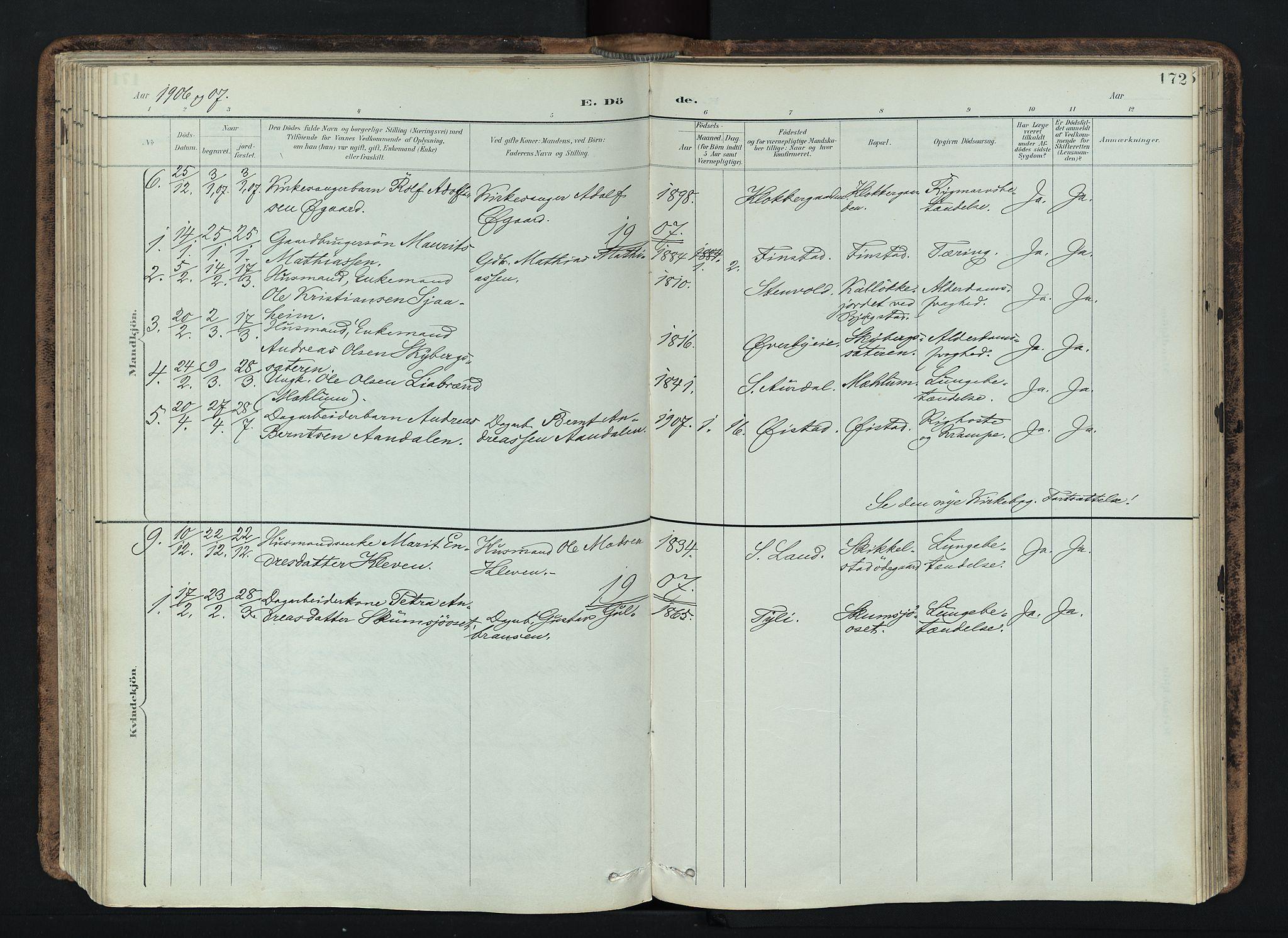 SAH, Vardal prestekontor, H/Ha/Haa/L0019: Ministerialbok nr. 19, 1893-1907, s. 172