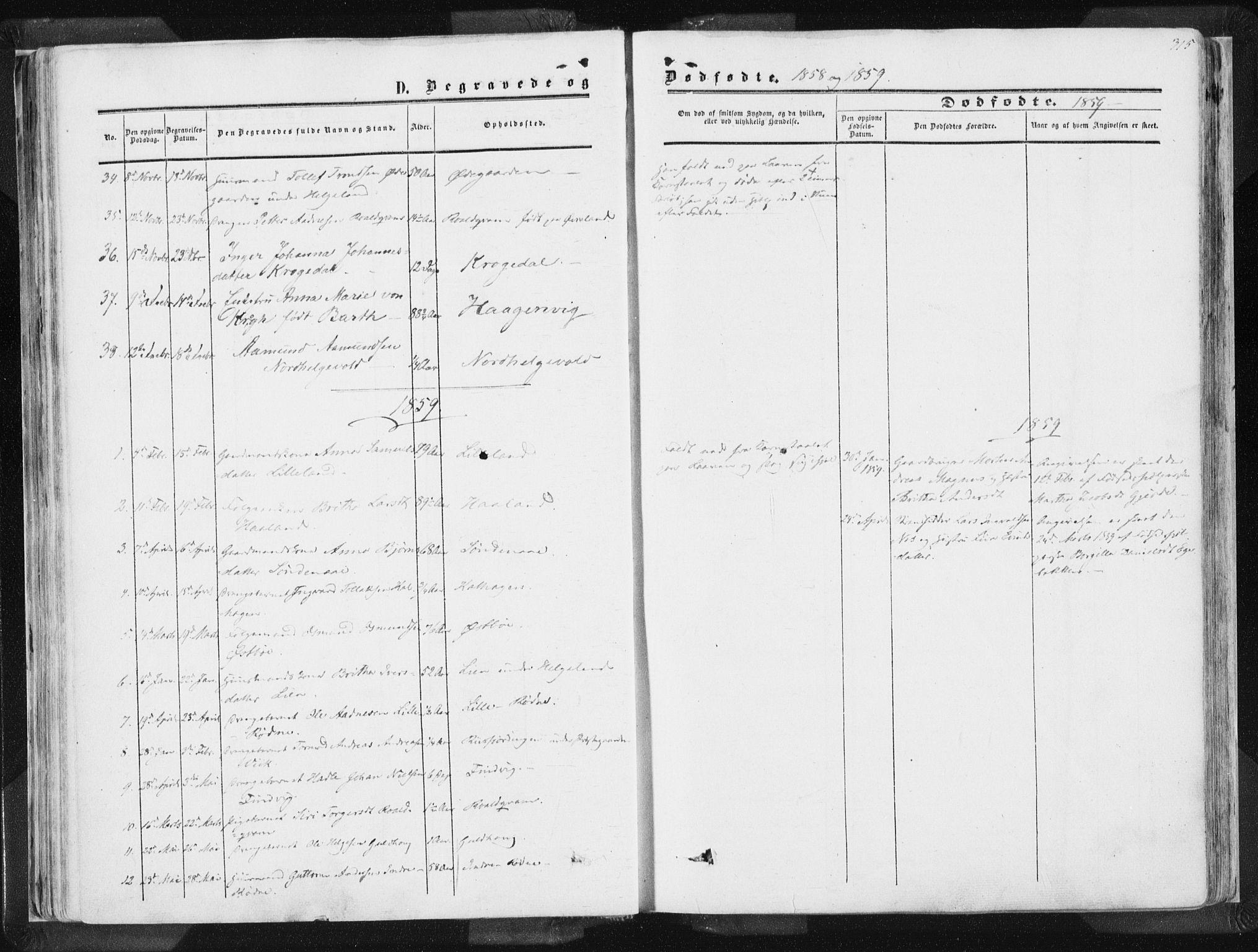 SAST, Vikedal sokneprestkontor, IV: Ministerialbok nr. A 6.2, 1851-1867, s. 315