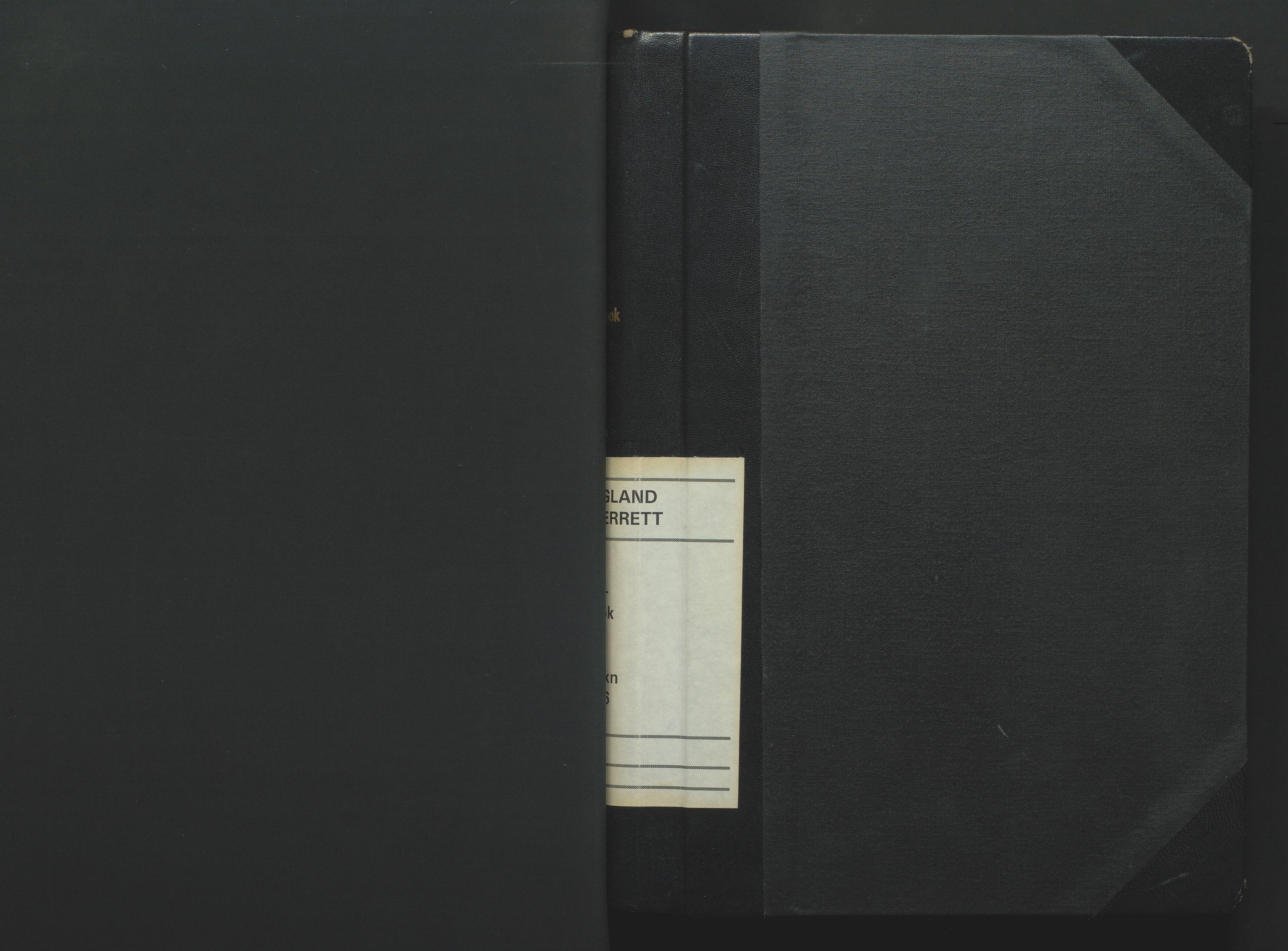 SAK, Jordskifteoverdommeren i Agder og Rogaland, F/Fa/Fab/L0002: Jordskifteoverrettsbok Setesdal jordskiftesokn nr 2, 1974-1976