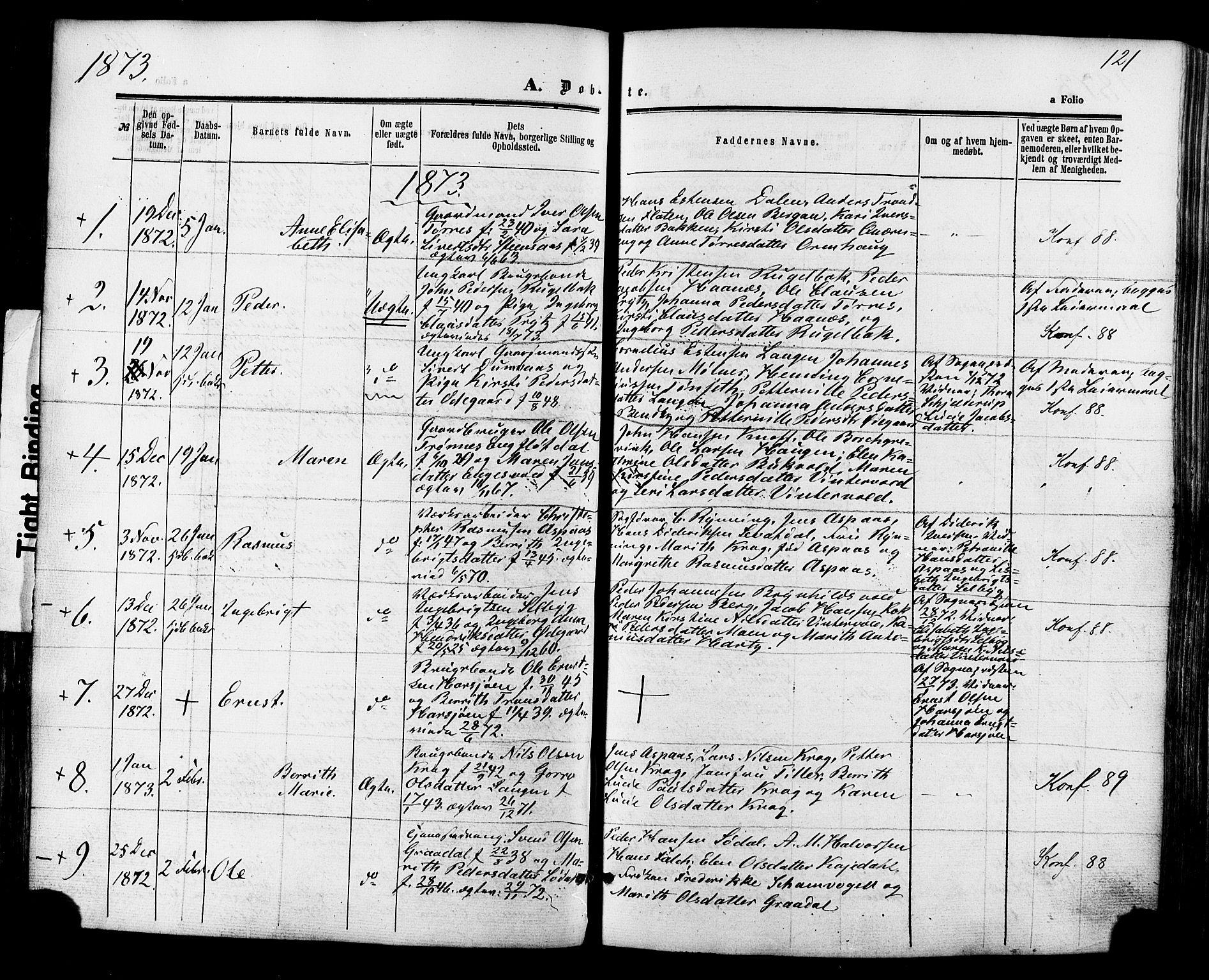 SAT, Ministerialprotokoller, klokkerbøker og fødselsregistre - Sør-Trøndelag, 681/L0932: Ministerialbok nr. 681A10, 1860-1878, s. 121