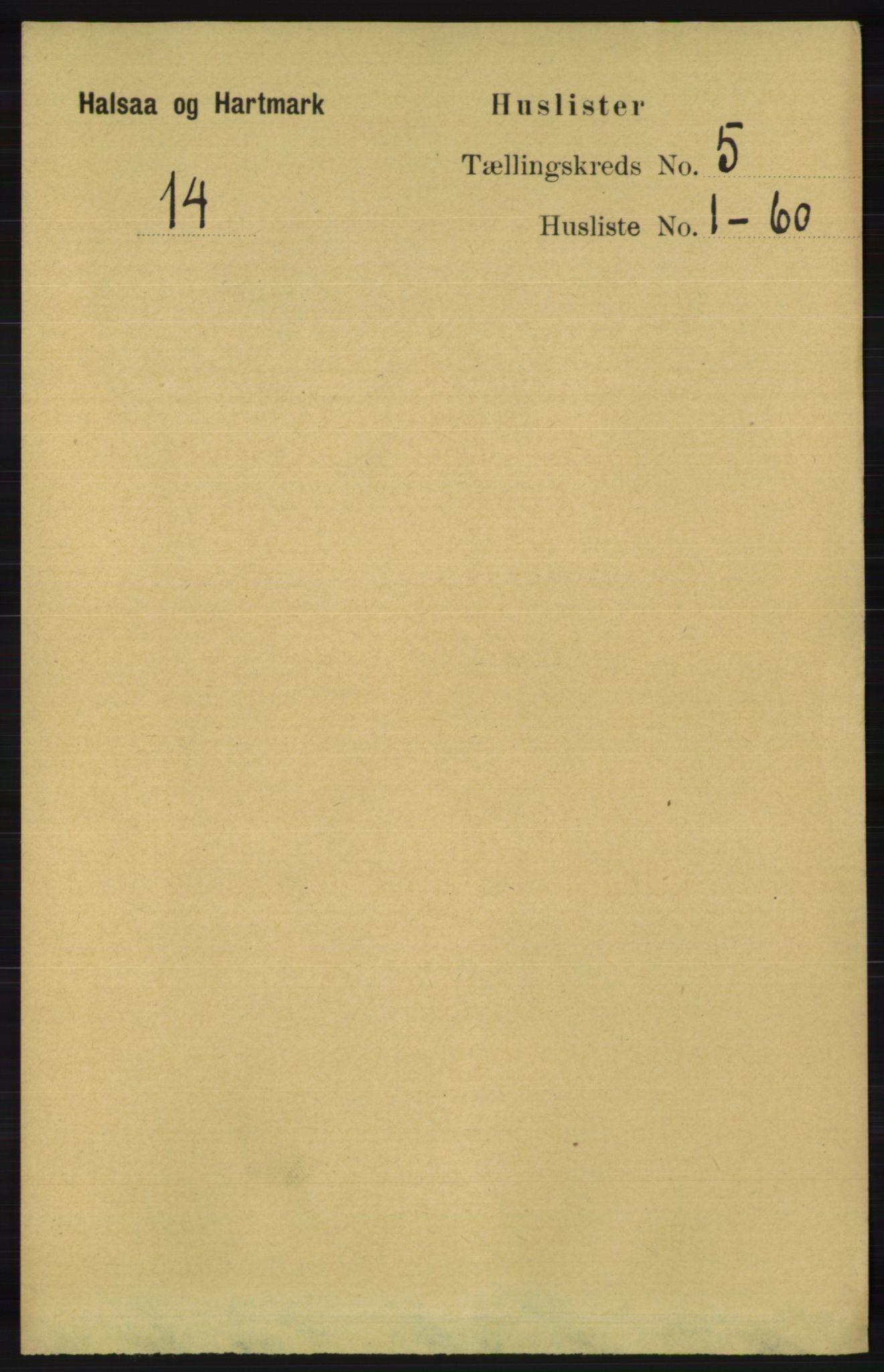 RA, Folketelling 1891 for 1019 Halse og Harkmark herred, 1891, s. 1971