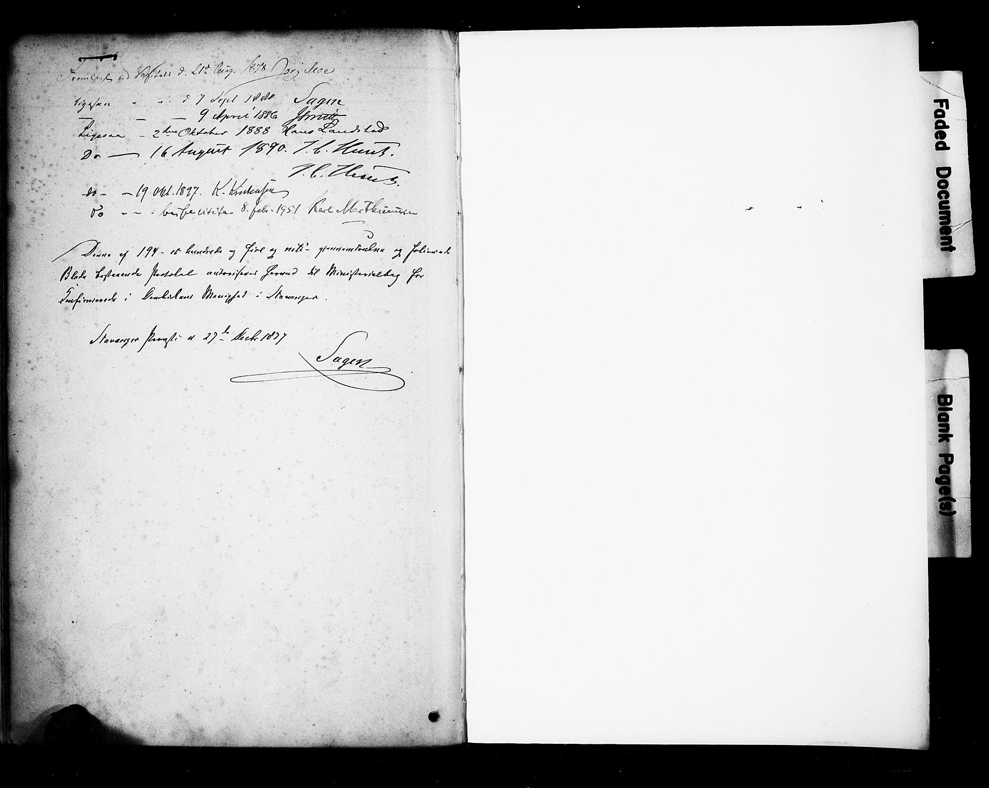 SAST, Domkirken sokneprestkontor, 30/30BA/L0028: Ministerialbok nr. A 27, 1878-1896