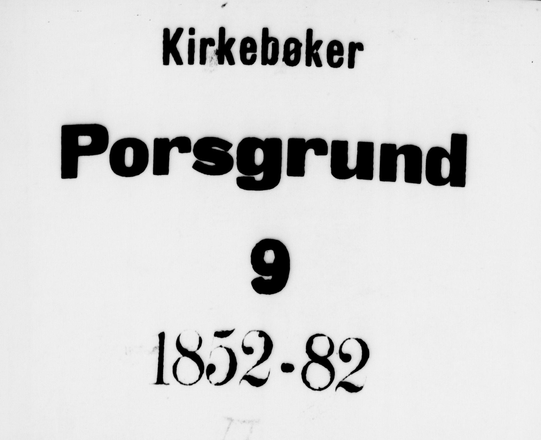 SAKO, Porsgrunn kirkebøker , G/Gb/L0004: Klokkerbok nr. II 4, 1853-1882