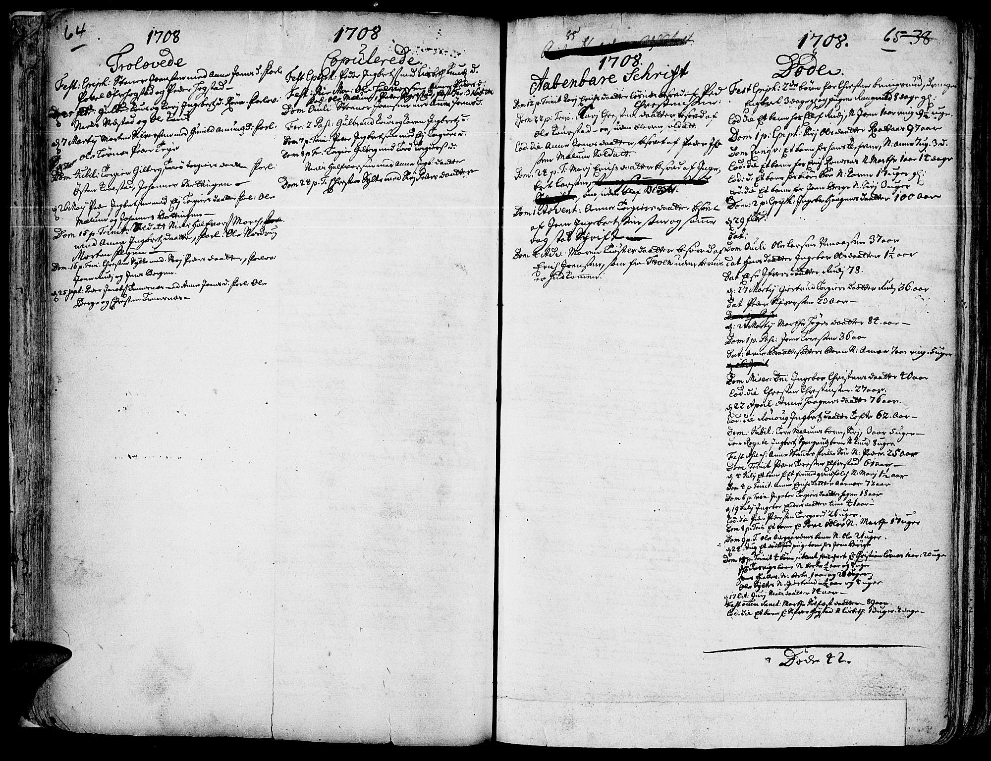 SAH, Ringebu prestekontor, Ministerialbok nr. 1, 1696-1733, s. 64-65