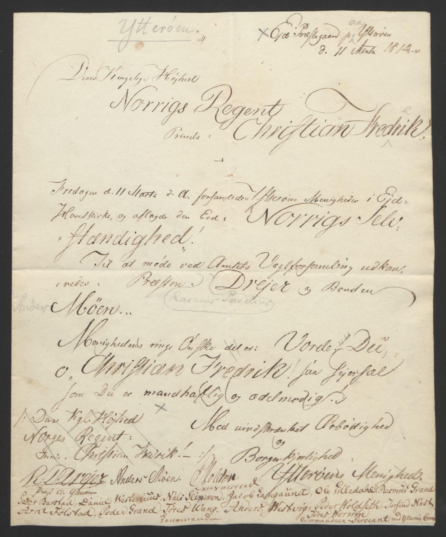 RA, Statsrådssekretariatet, D/Db/L0008: Fullmakter for Eidsvollsrepresentantene i 1814. , 1814, s. 483