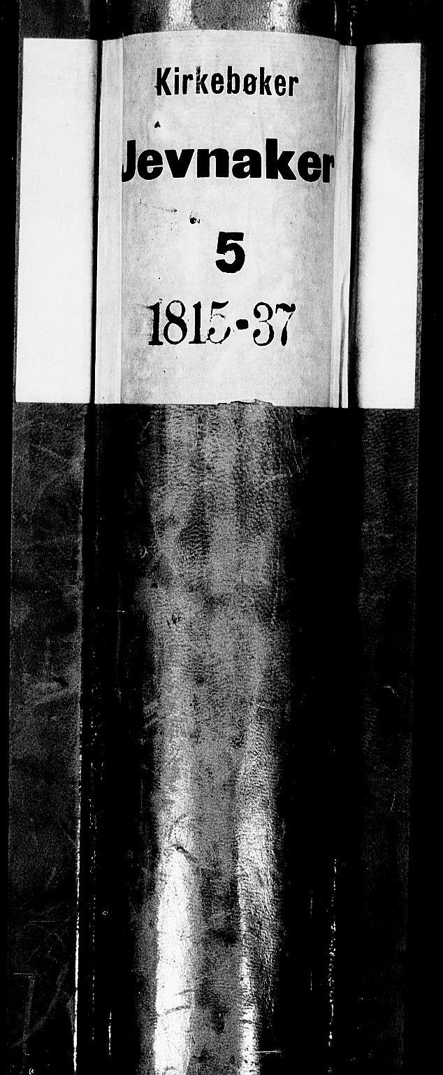 SAH, Jevnaker prestekontor, Klokkerbok nr. 1, 1815-1837