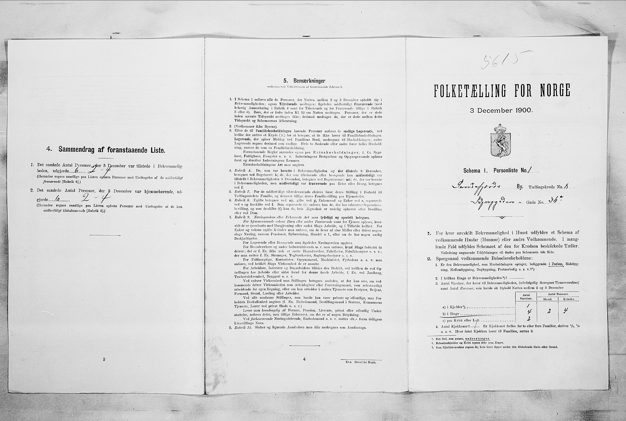 RA, Folketelling 1900 for 0706 Sandefjord kjøpstad, 1900, s. 2074