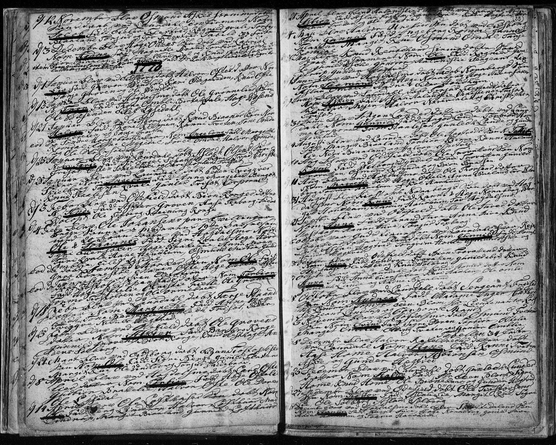 SAKO, Lårdal kirkebøker, F/Fa/L0003: Ministerialbok nr. I 3, 1754-1790, s. 23