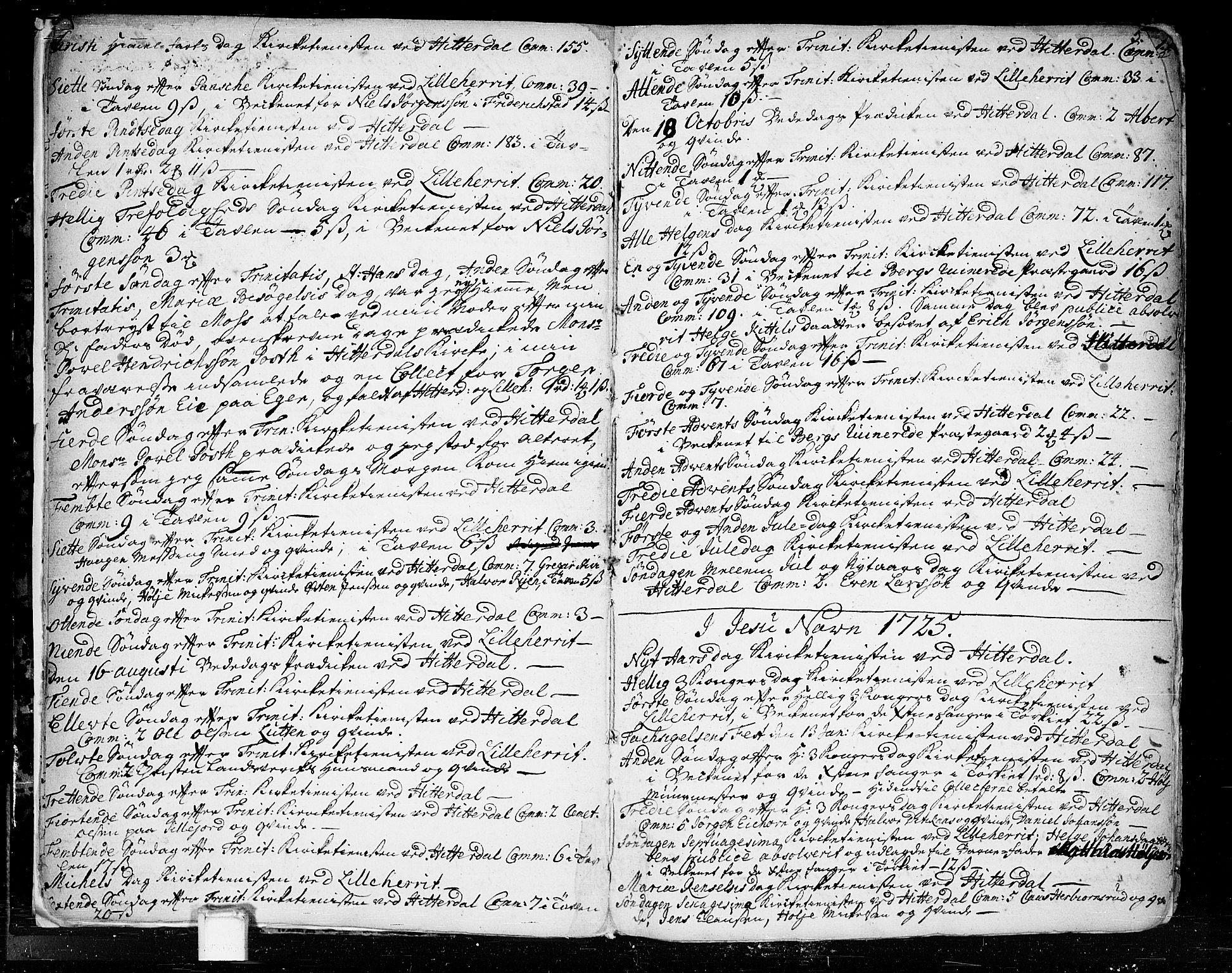 SAKO, Heddal kirkebøker, F/Fa/L0003: Ministerialbok nr. I 3, 1723-1783, s. 5