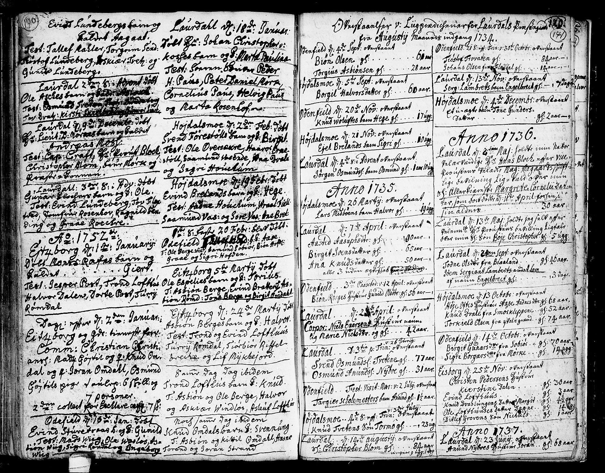 SAKO, Lårdal kirkebøker, F/Fa/L0002: Ministerialbok nr. I 2, 1734-1754, s. 170-171