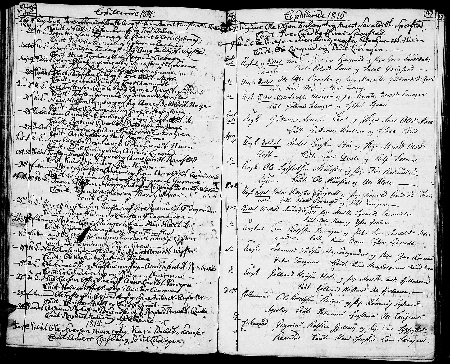 SAH, Lom prestekontor, K/L0003: Ministerialbok nr. 3, 1801-1825, s. 109