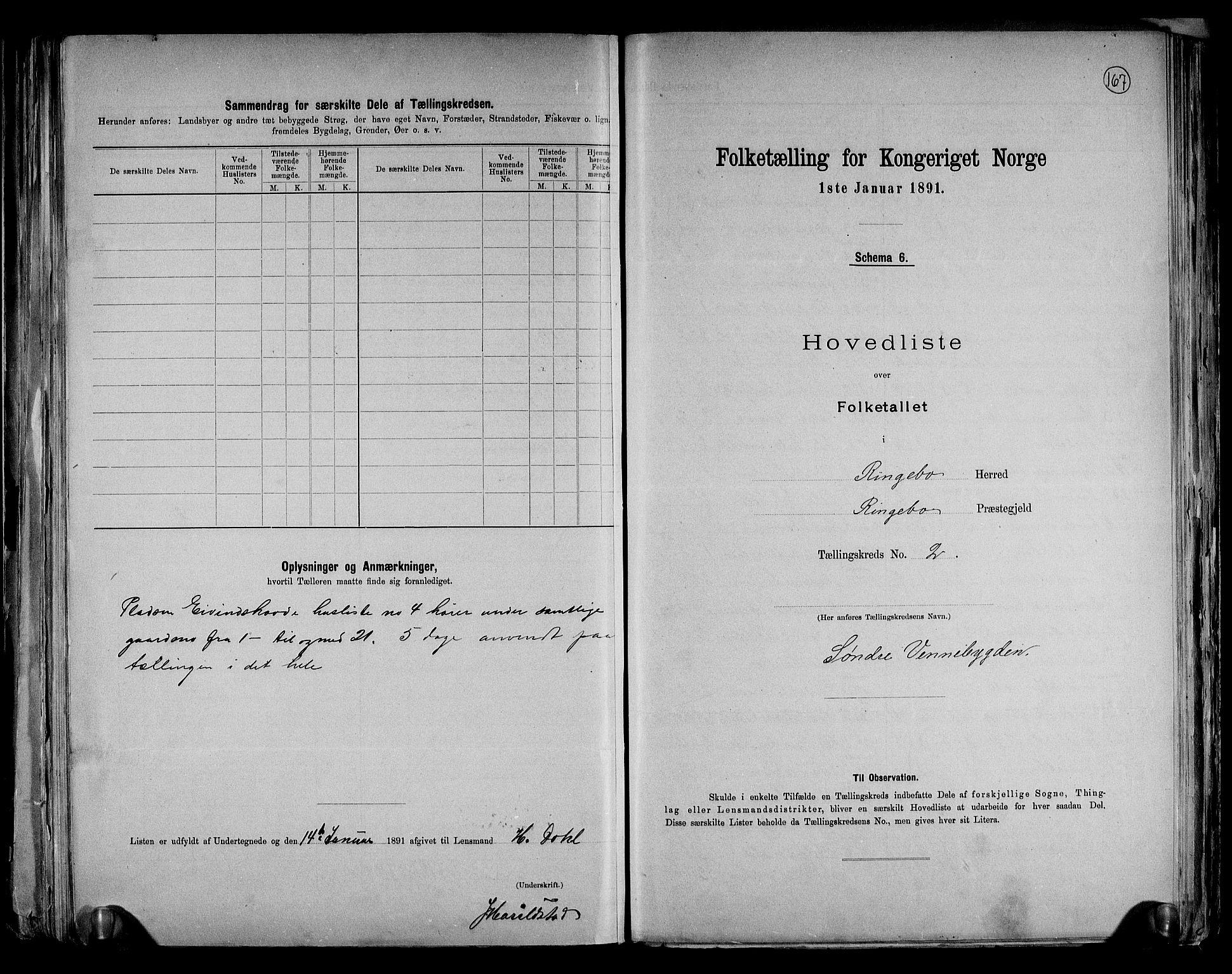 RA, Folketelling 1891 for 0520 Ringebu herred, 1891, s. 9