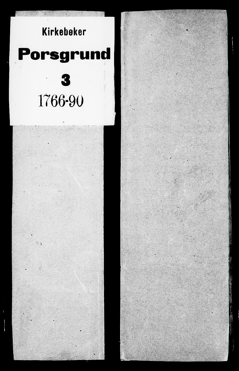 SAKO, Porsgrunn kirkebøker , G/Ga/L0001: Klokkerbok nr. I 1, 1766-1790
