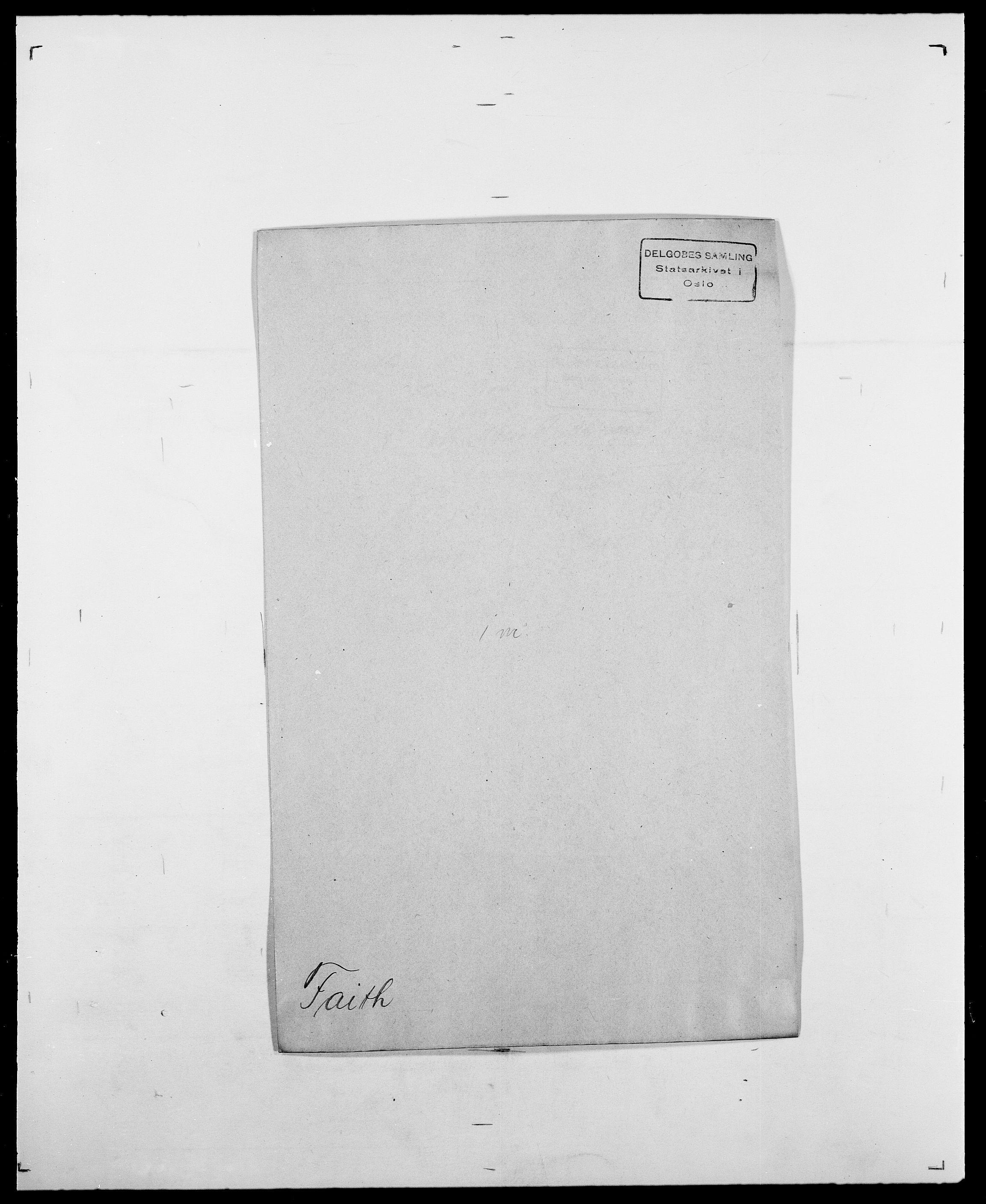 SAO, Delgobe, Charles Antoine - samling, D/Da/L0011: Fahlander - Flood, Flod, s. 14