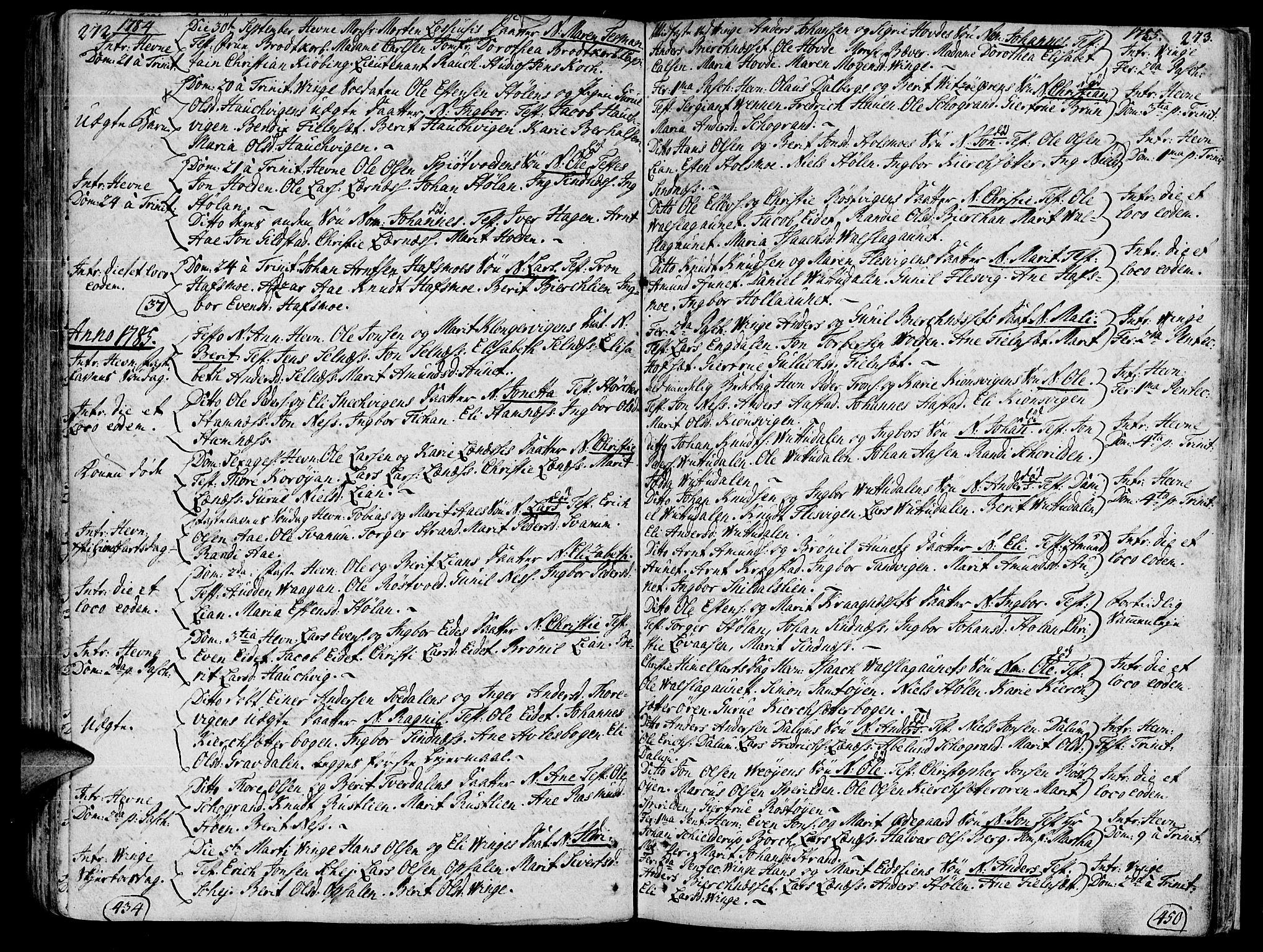 SAT, Ministerialprotokoller, klokkerbøker og fødselsregistre - Sør-Trøndelag, 630/L0489: Ministerialbok nr. 630A02, 1757-1794, s. 272-273