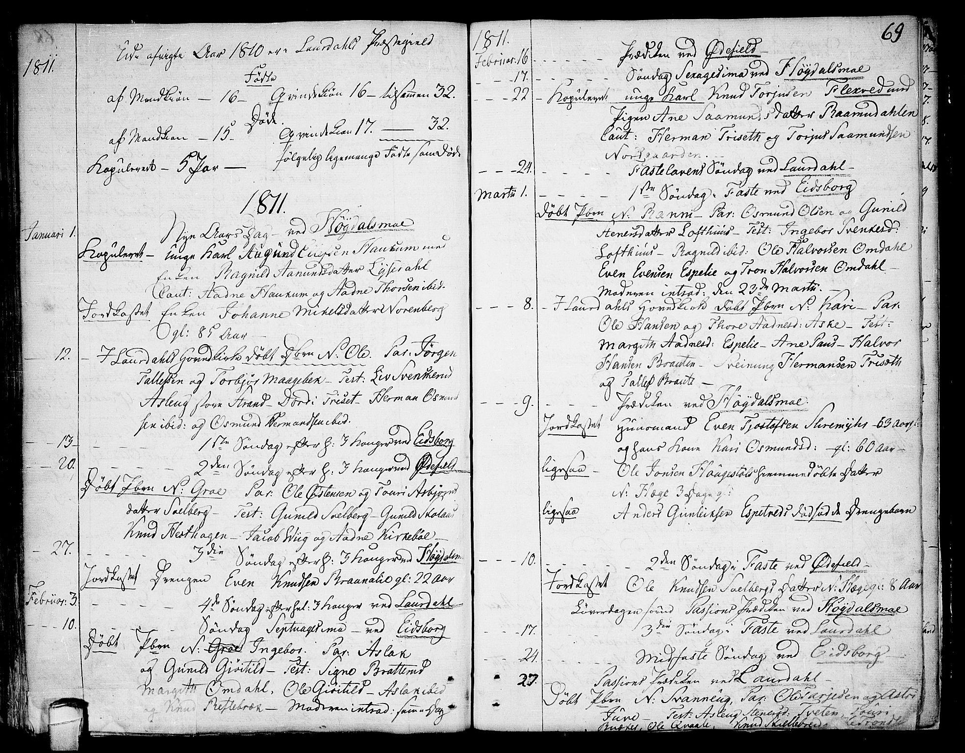 SAKO, Lårdal kirkebøker, F/Fa/L0004: Ministerialbok nr. I 4, 1790-1814, s. 69