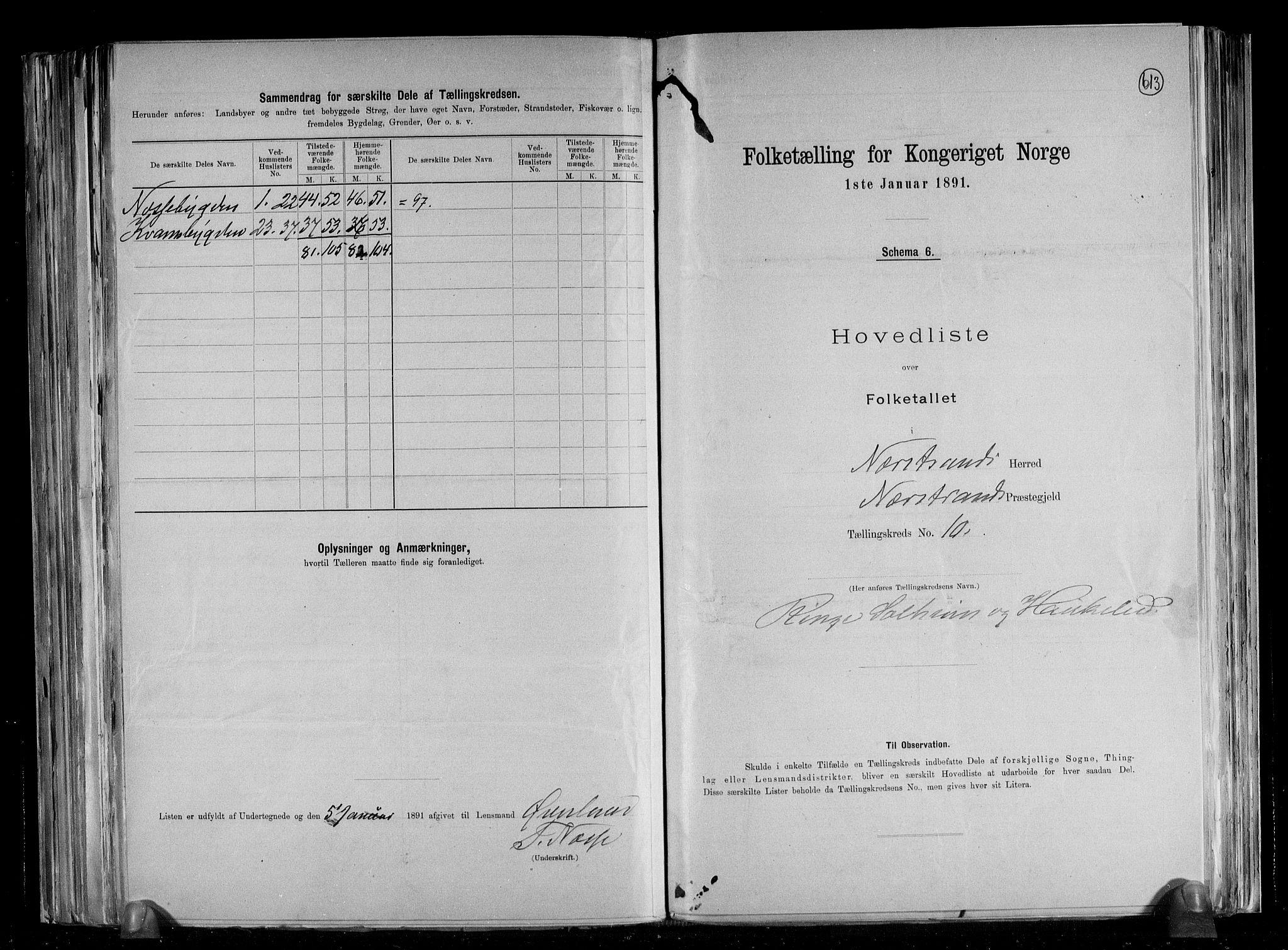 RA, Folketelling 1891 for 1139 Nedstrand herred, 1891, s. 23