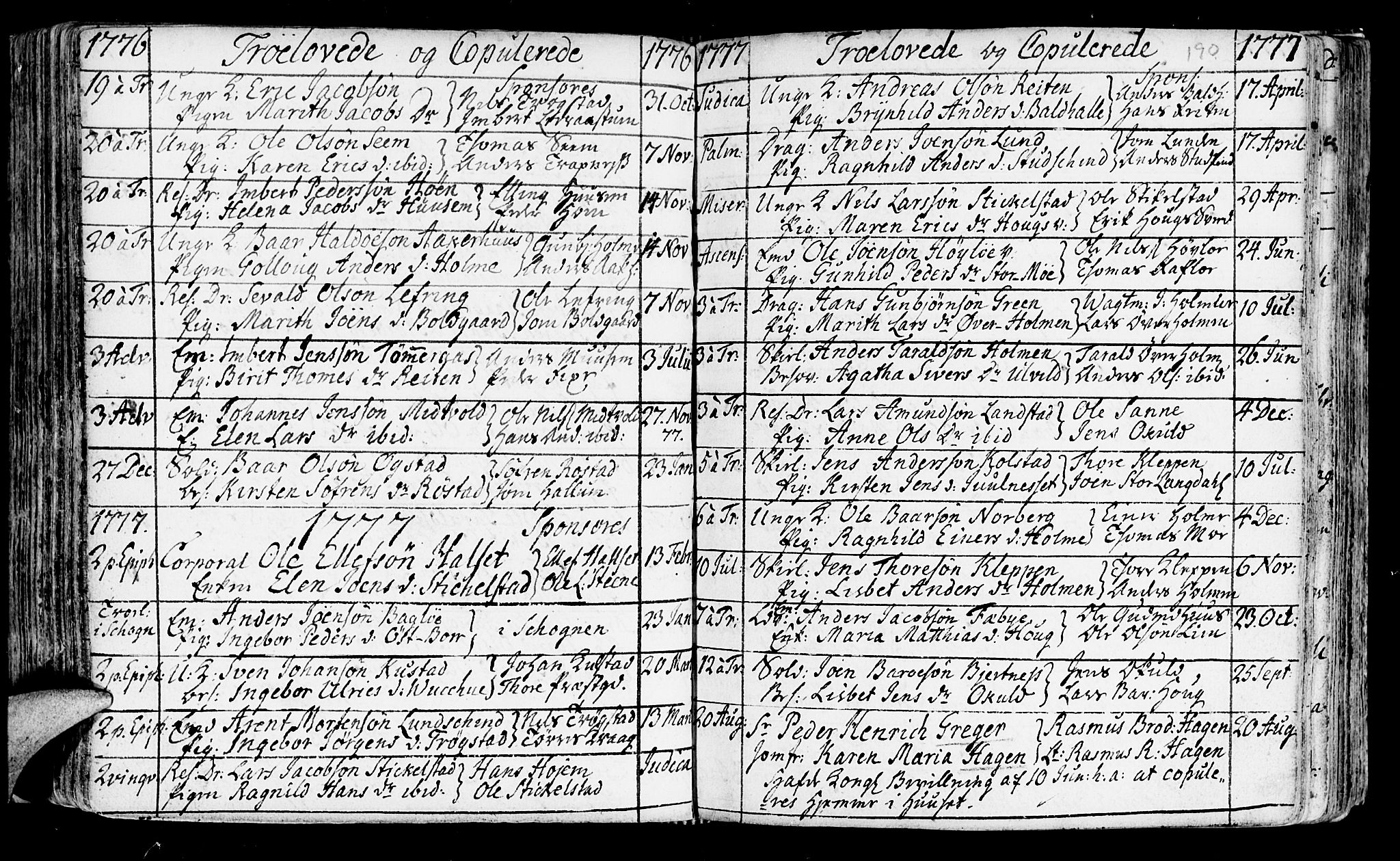 SAT, Ministerialprotokoller, klokkerbøker og fødselsregistre - Nord-Trøndelag, 723/L0231: Ministerialbok nr. 723A02, 1748-1780, s. 190