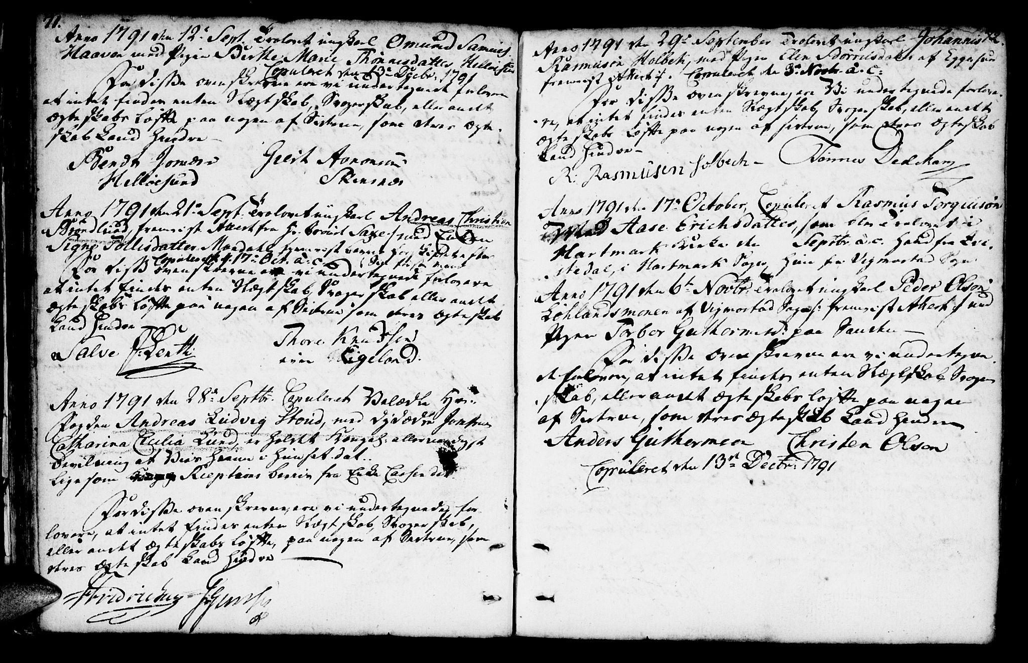 SAK, Mandal sokneprestkontor, F/Fa/Faa/L0007: Ministerialbok nr. A 7, 1783-1818, s. 71-72