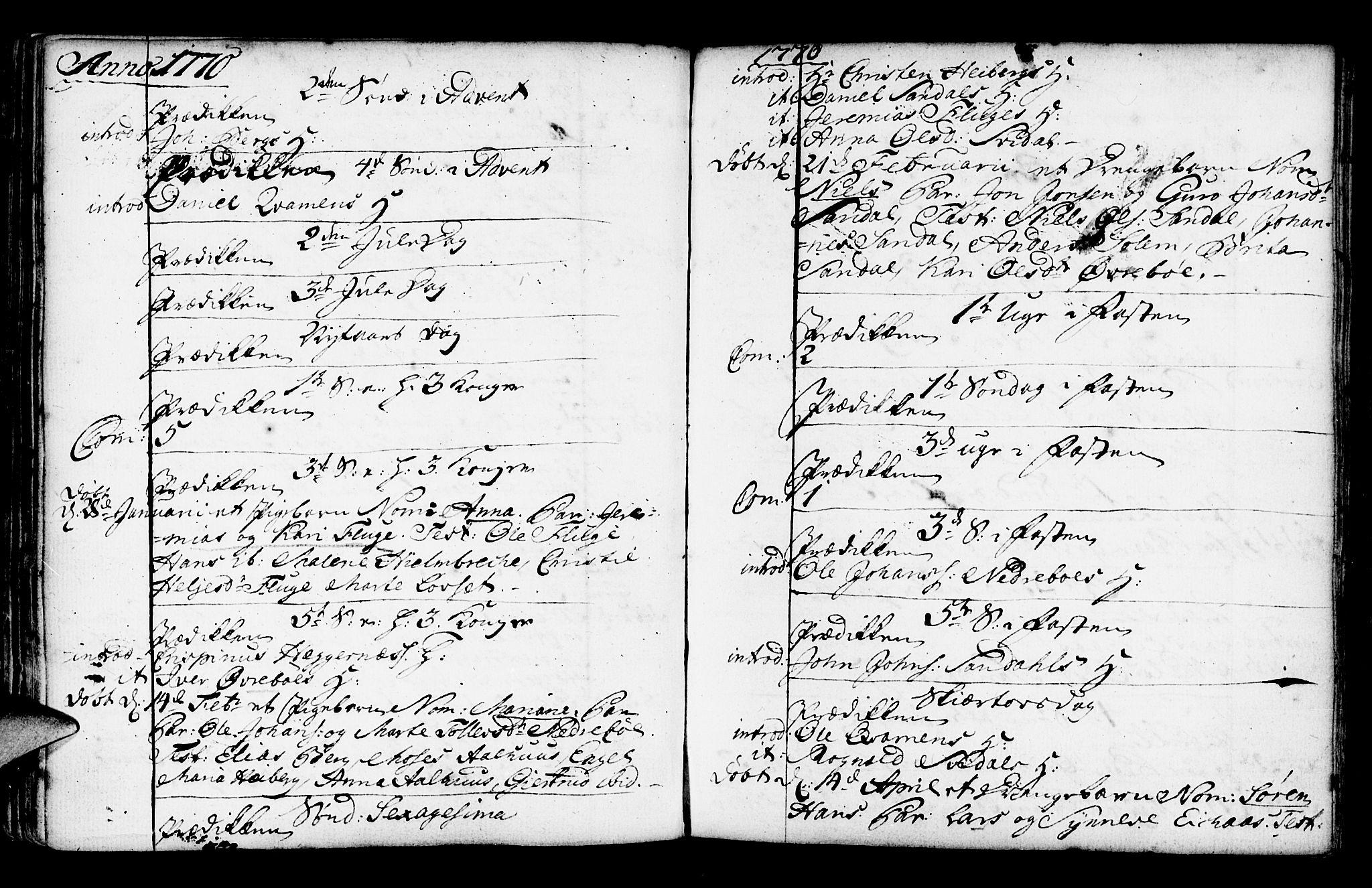 SAB, Jølster Sokneprestembete, Ministerialbok nr. A 3, 1748-1789, s. 126