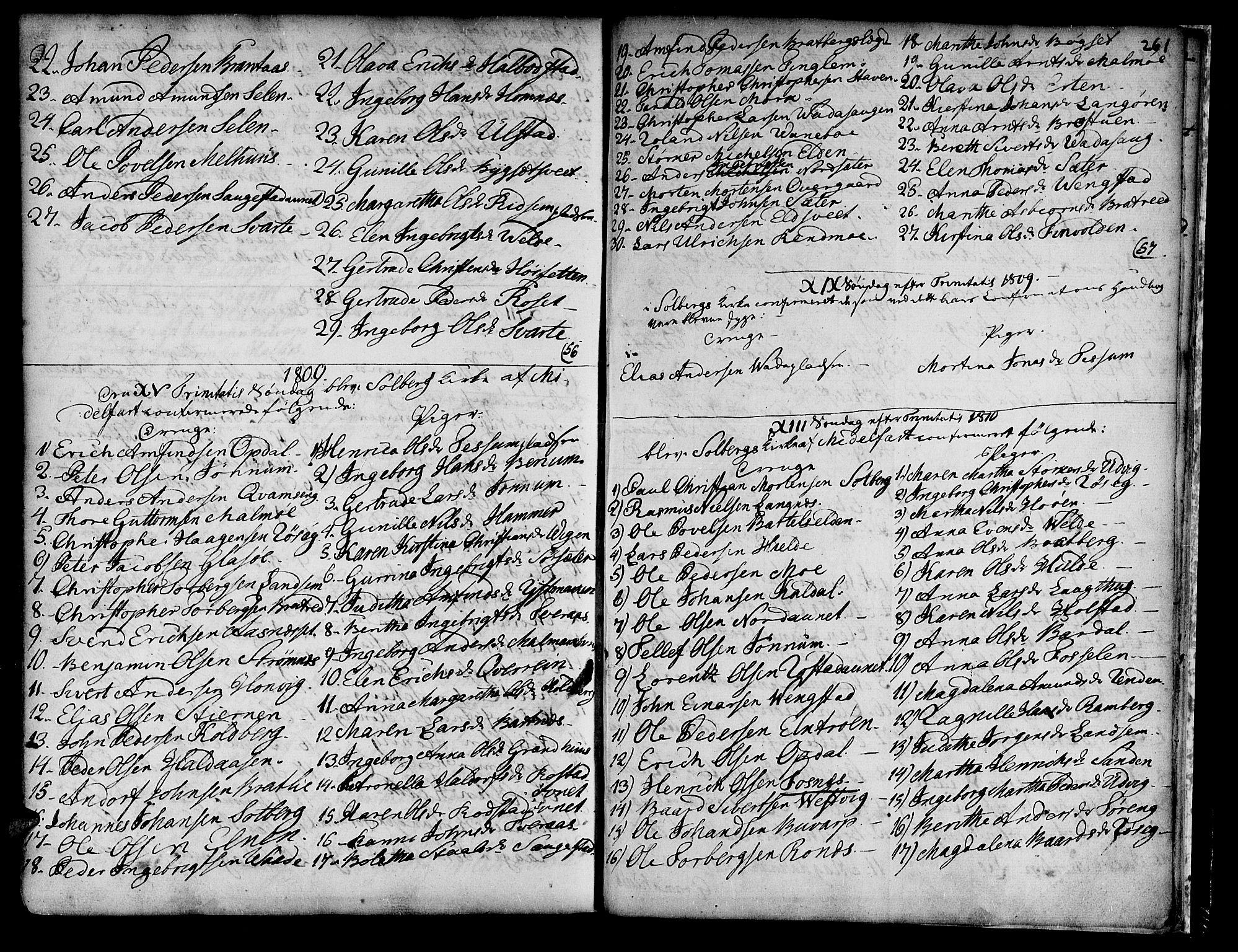 SAT, Ministerialprotokoller, klokkerbøker og fødselsregistre - Nord-Trøndelag, 741/L0385: Ministerialbok nr. 741A01, 1722-1815, s. 261