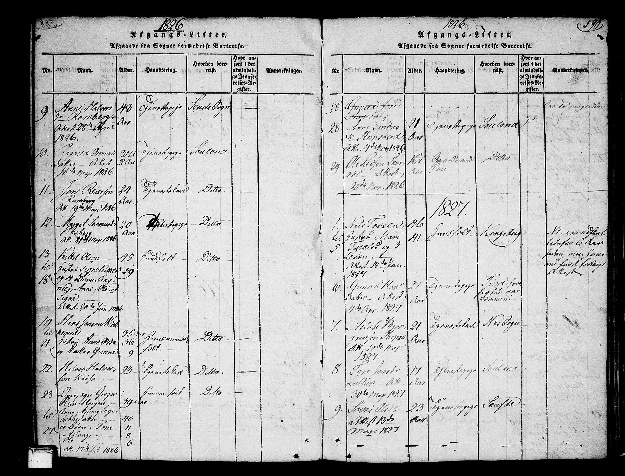 SAKO, Heddal kirkebøker, F/Fa/L0005: Ministerialbok nr. I 5, 1814-1837, s. 589-590