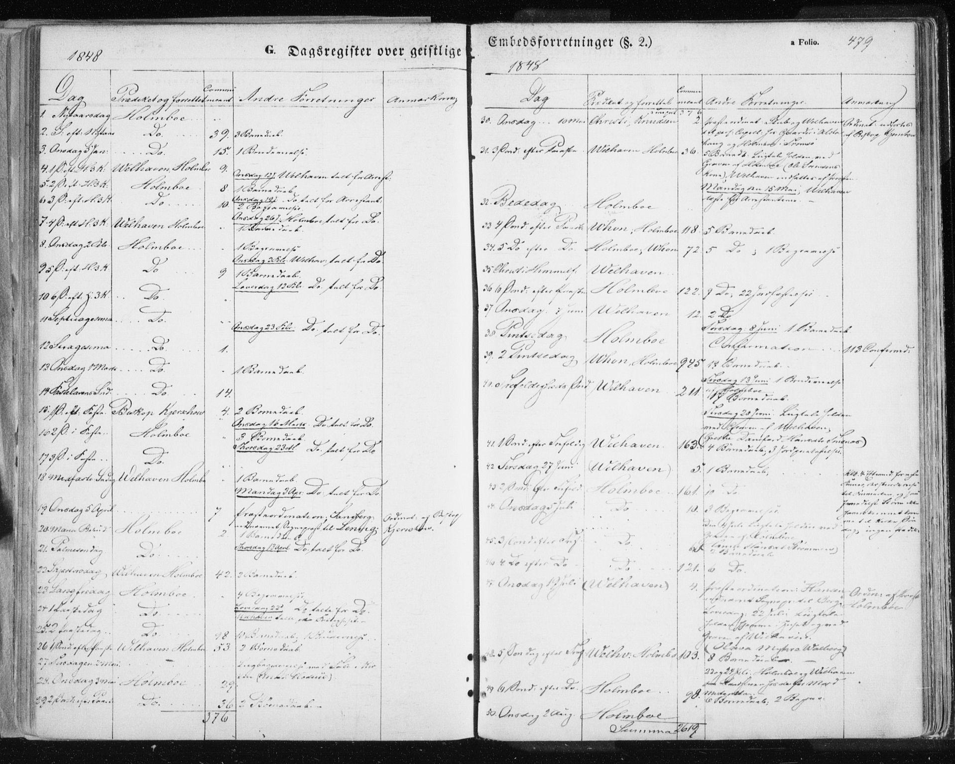 SATØ, Tromsø sokneprestkontor/stiftsprosti/domprosti, G/Ga/L0010kirke: Ministerialbok nr. 10, 1848-1855, s. 479