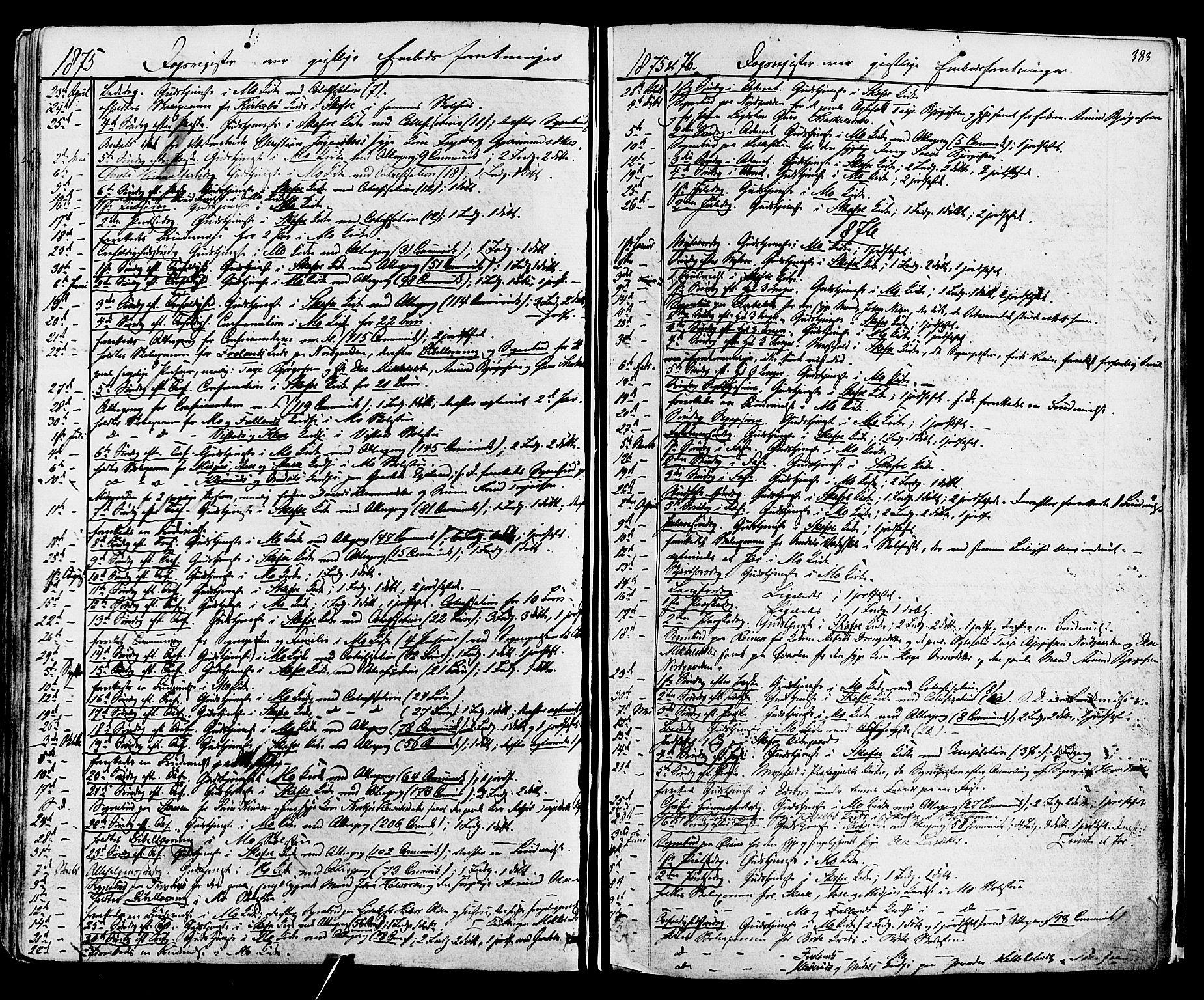 SAKO, Mo kirkebøker, F/Fa/L0006: Ministerialbok nr. I 6, 1865-1885, s. 383