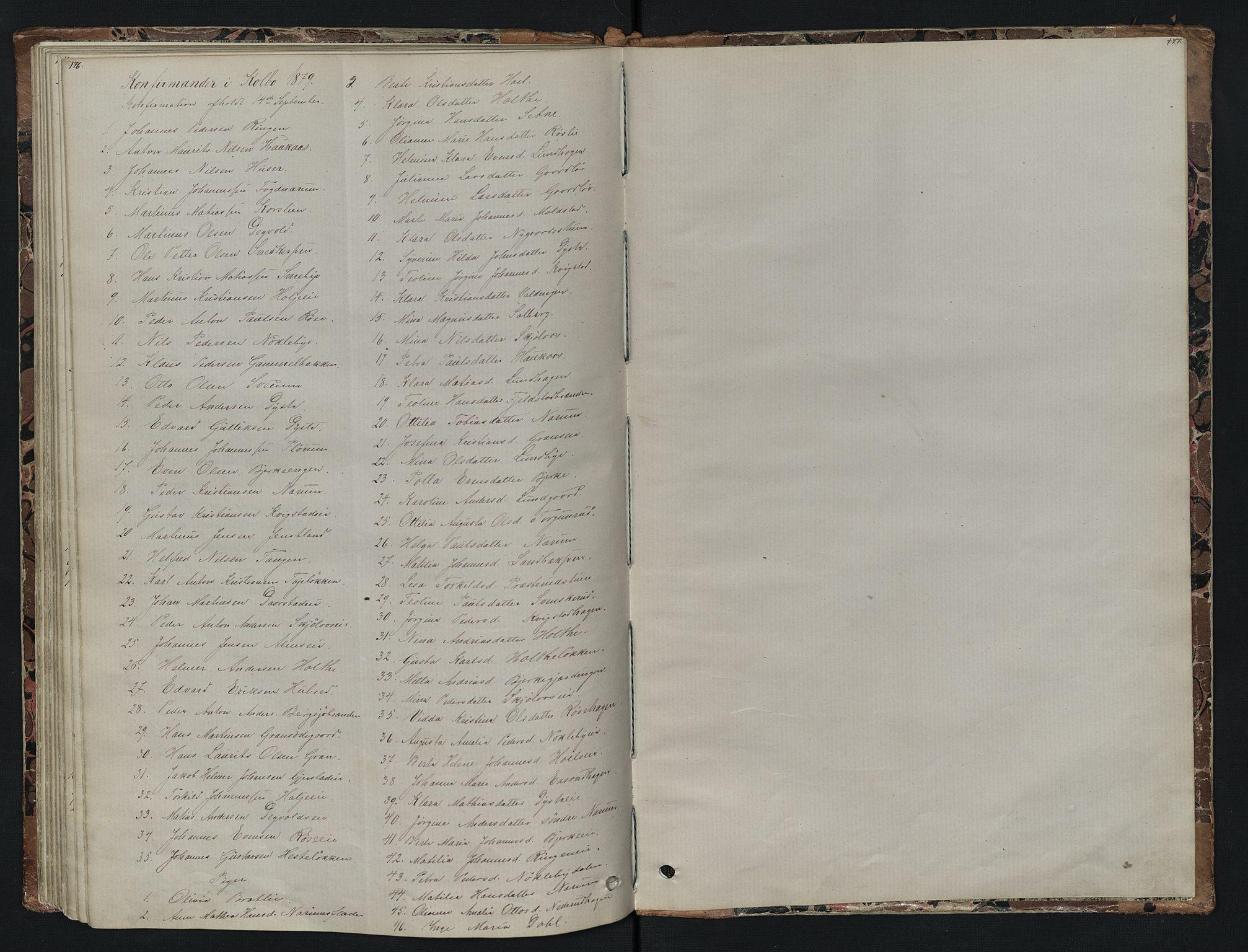 SAH, Vestre Toten prestekontor, Klokkerbok nr. 7, 1872-1900, s. 176-177