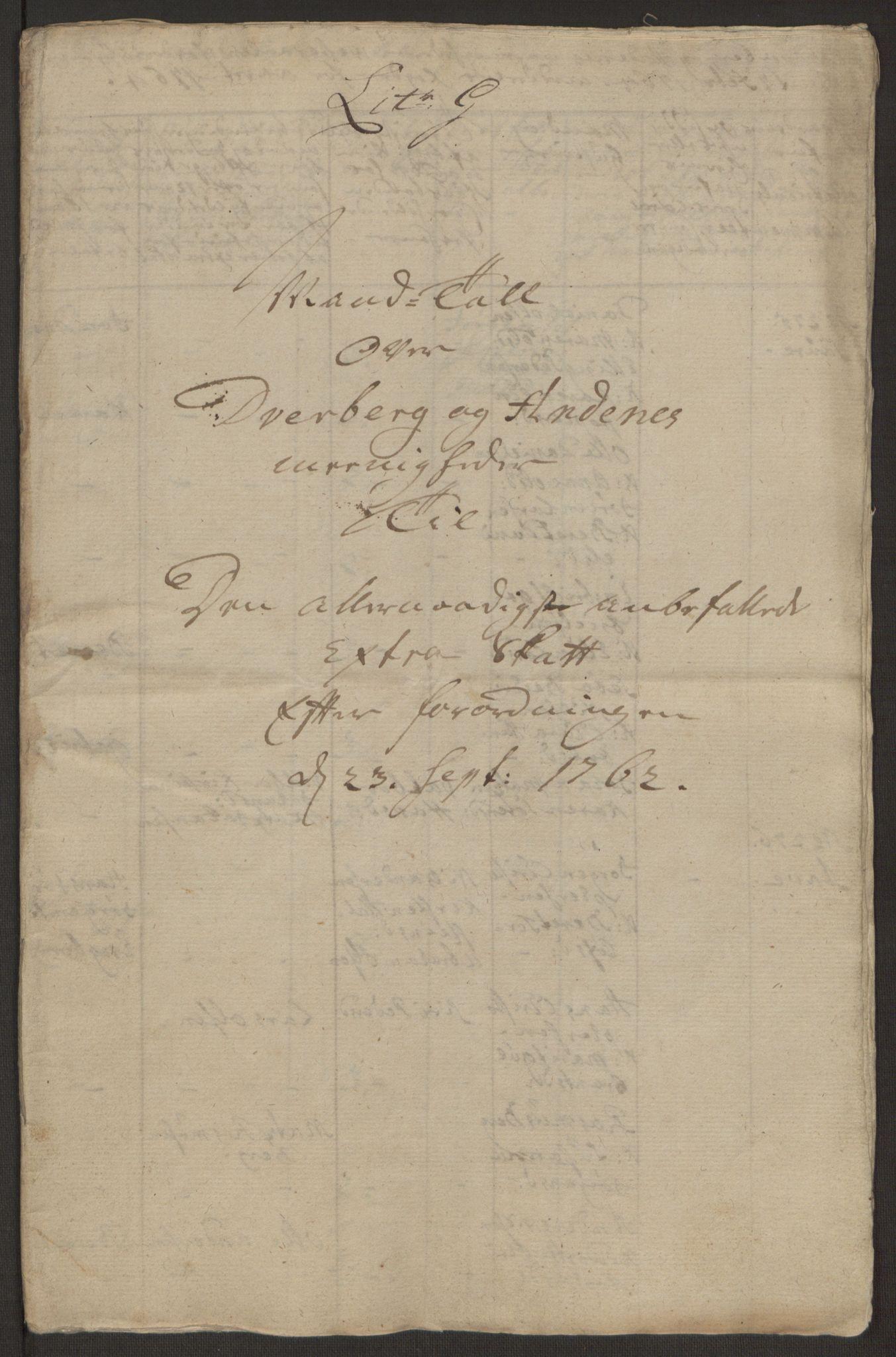 RA, Rentekammeret inntil 1814, Realistisk ordnet avdeling, Ol/L0022a: [Gg 10]: Ekstraskatten, 23.09.1762. Nordlands amt, 1763-1769, s. 134