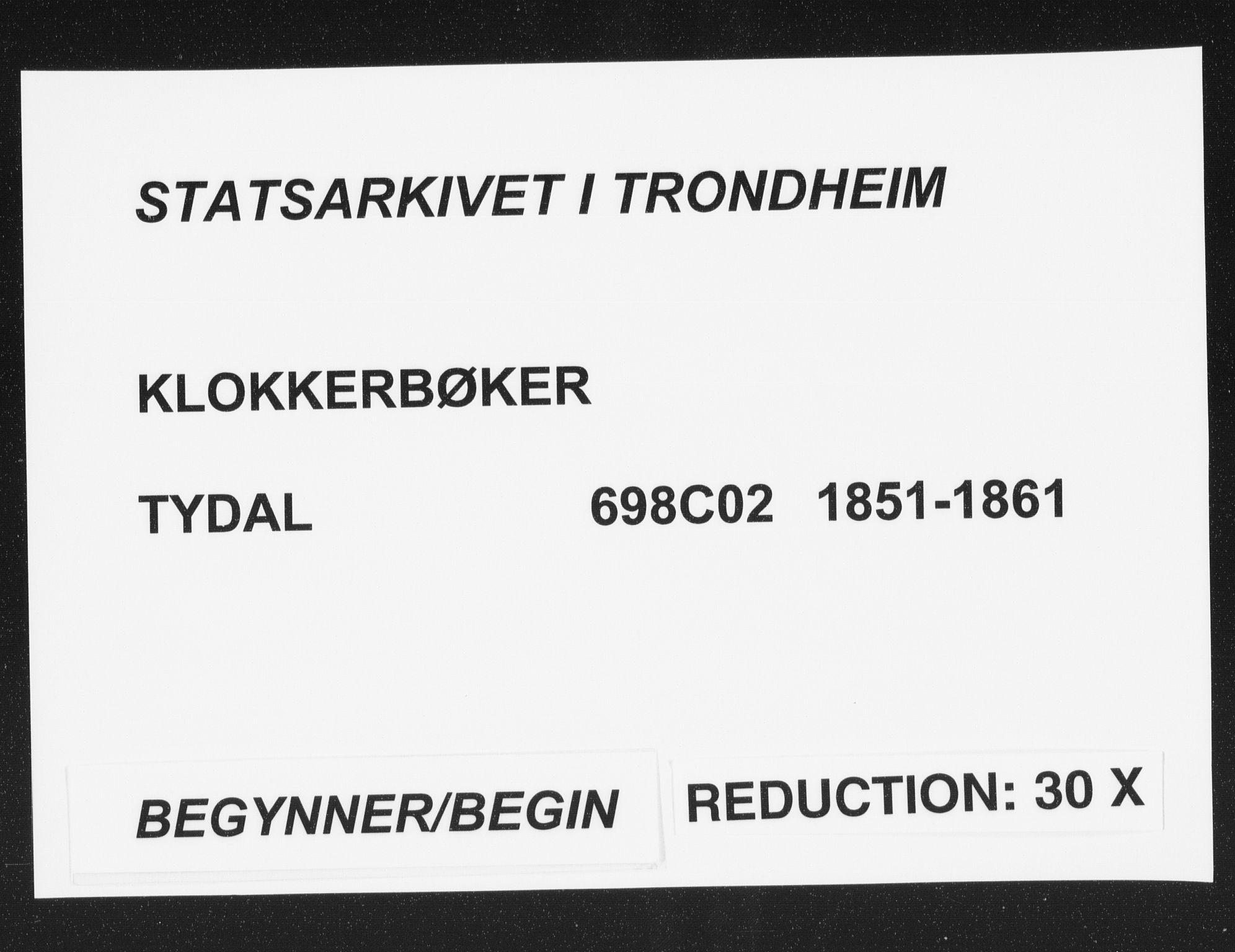 SAT, Ministerialprotokoller, klokkerbøker og fødselsregistre - Sør-Trøndelag, 698/L1165: Klokkerbok nr. 698C02, 1851-1861