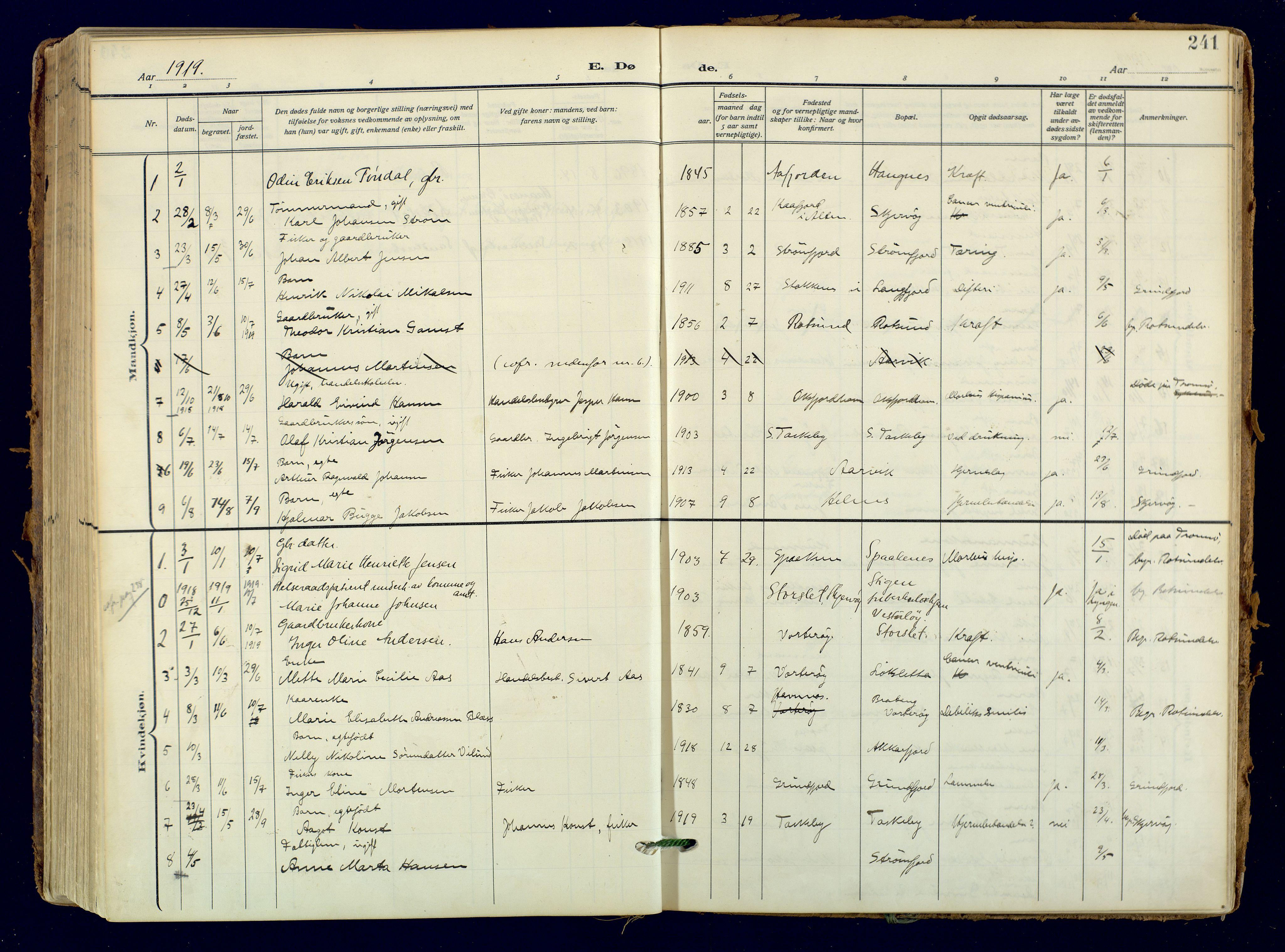 SATØ, Skjervøy sokneprestkontor, H/Ha/Haa: Ministerialbok nr. 18, 1910-1926, s. 241