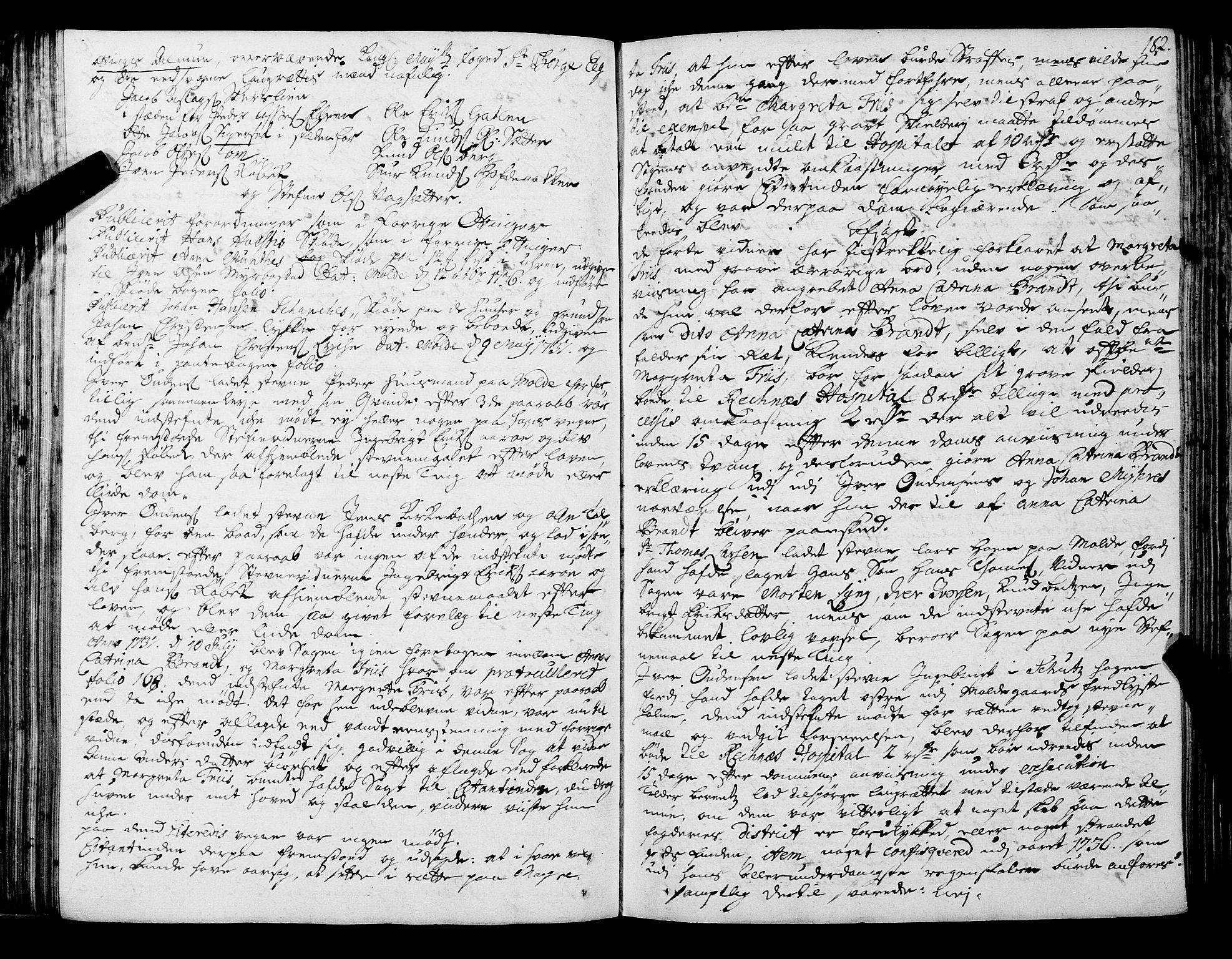 SAT, Romsdal sorenskriveri, 1/1A/L0011: Tingbok, 1732-1740, s. 181b-182a