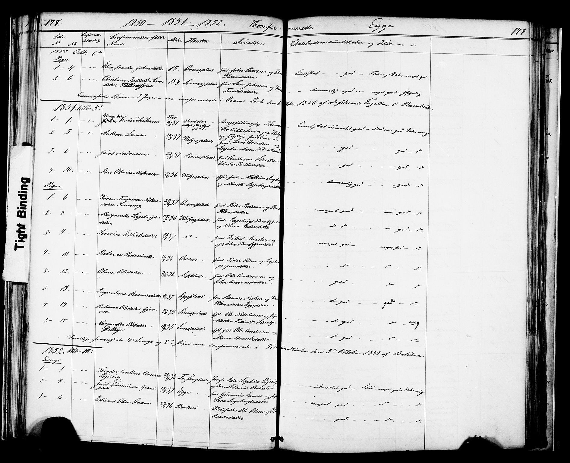 SAT, Ministerialprotokoller, klokkerbøker og fødselsregistre - Nord-Trøndelag, 739/L0367: Ministerialbok nr. 739A01 /3, 1838-1868, s. 178-179
