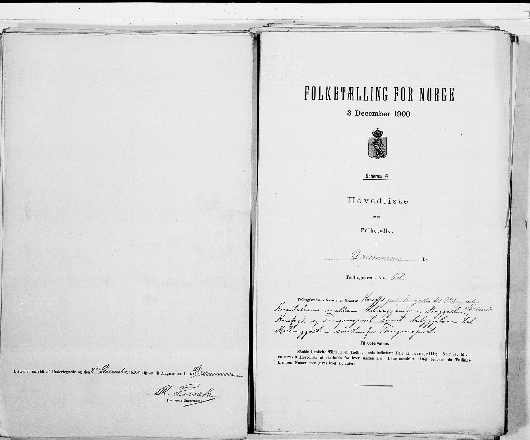 RA, Folketelling 1900 for 0602 Drammen kjøpstad, 1900, s. 111
