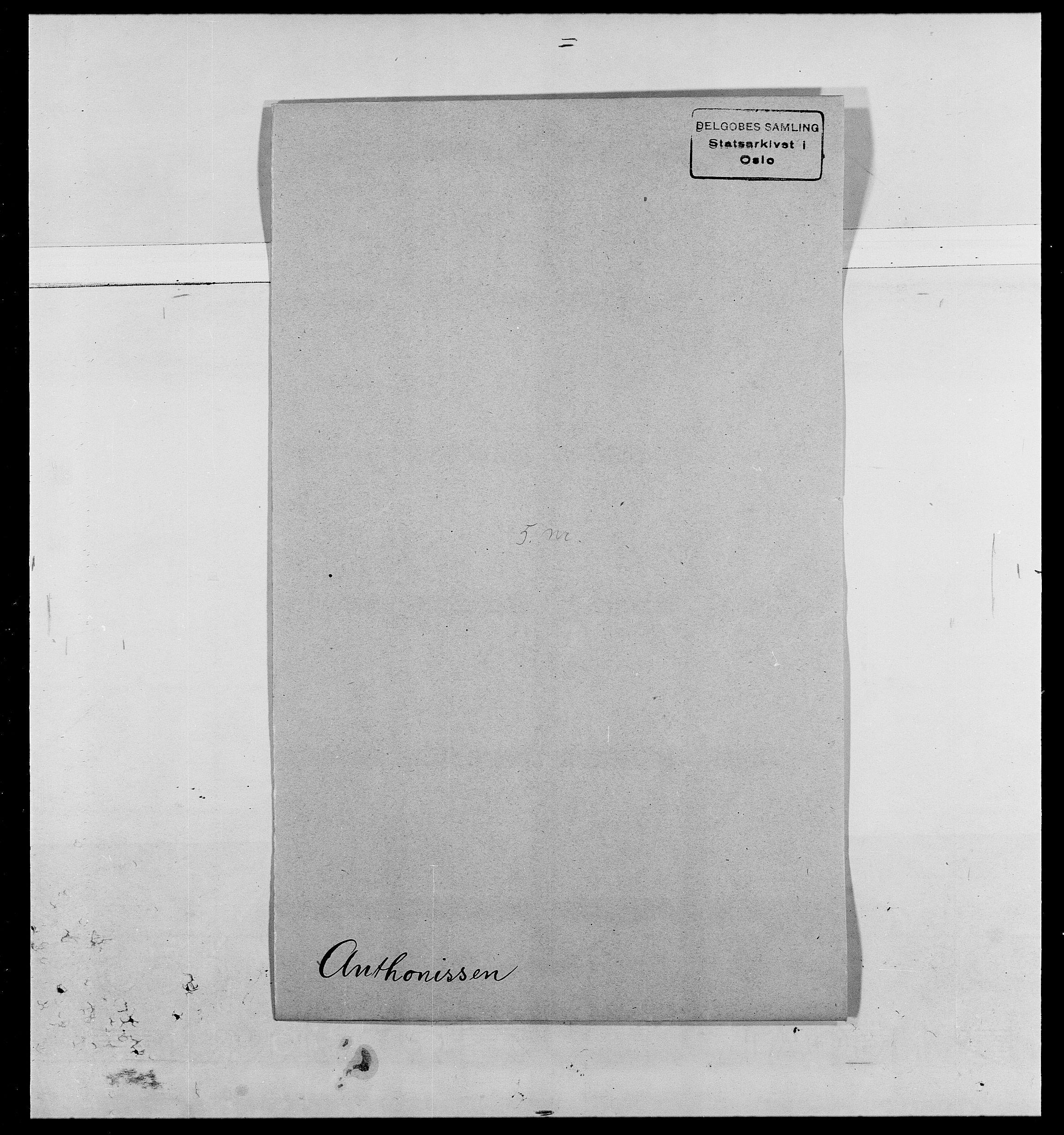SAO, Delgobe, Charles Antoine - samling, D/Da/L0002: Anker, Ancher - Bauner, s. 191