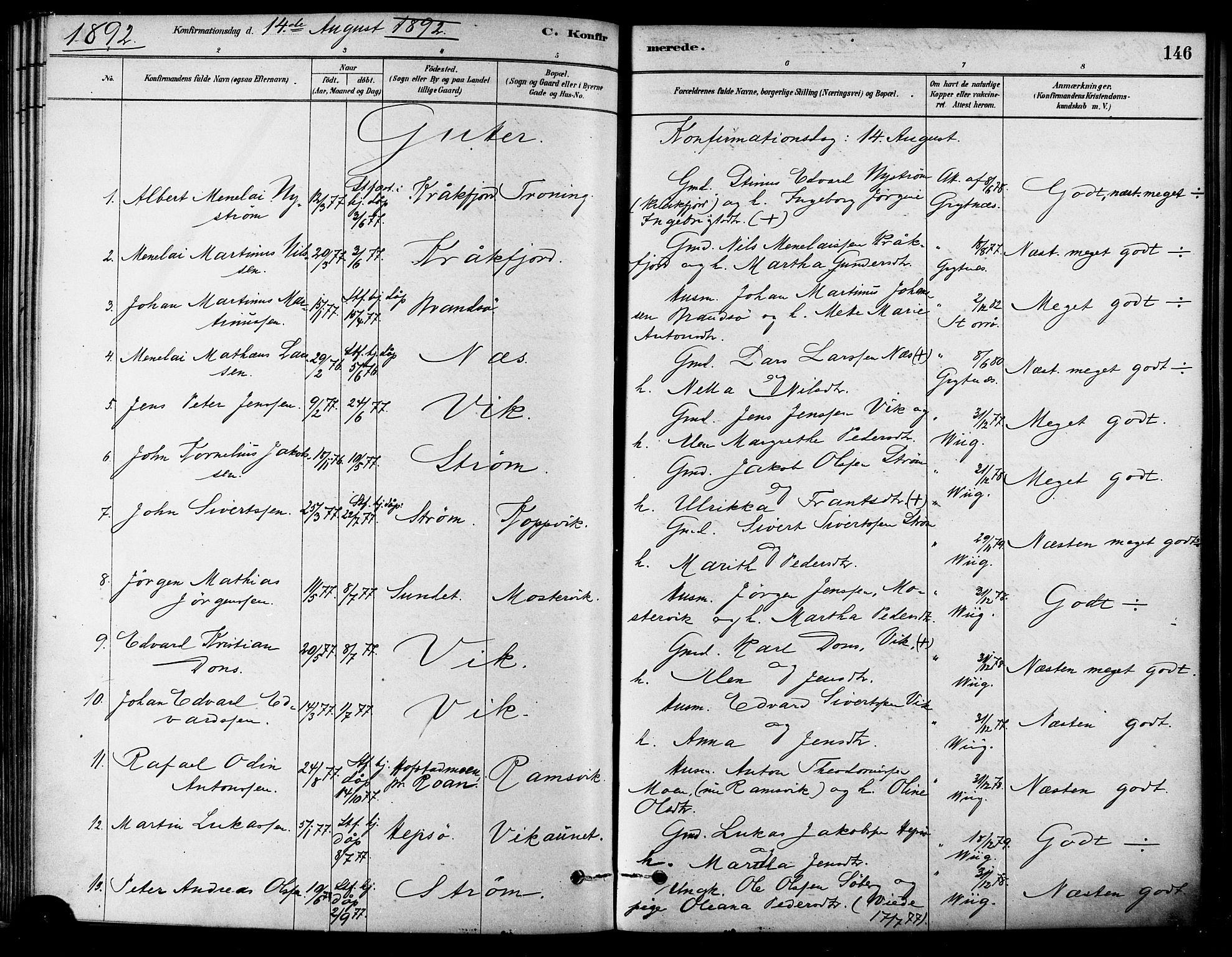 SAT, Ministerialprotokoller, klokkerbøker og fødselsregistre - Sør-Trøndelag, 657/L0707: Ministerialbok nr. 657A08, 1879-1893, s. 146