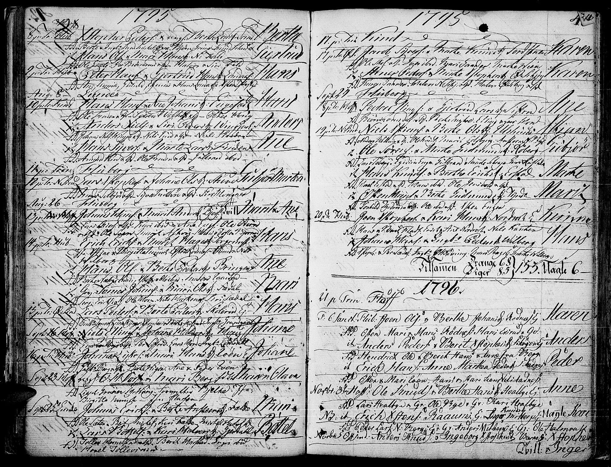 SAH, Land prestekontor, Ministerialbok nr. 6, 1784-1813, s. 43