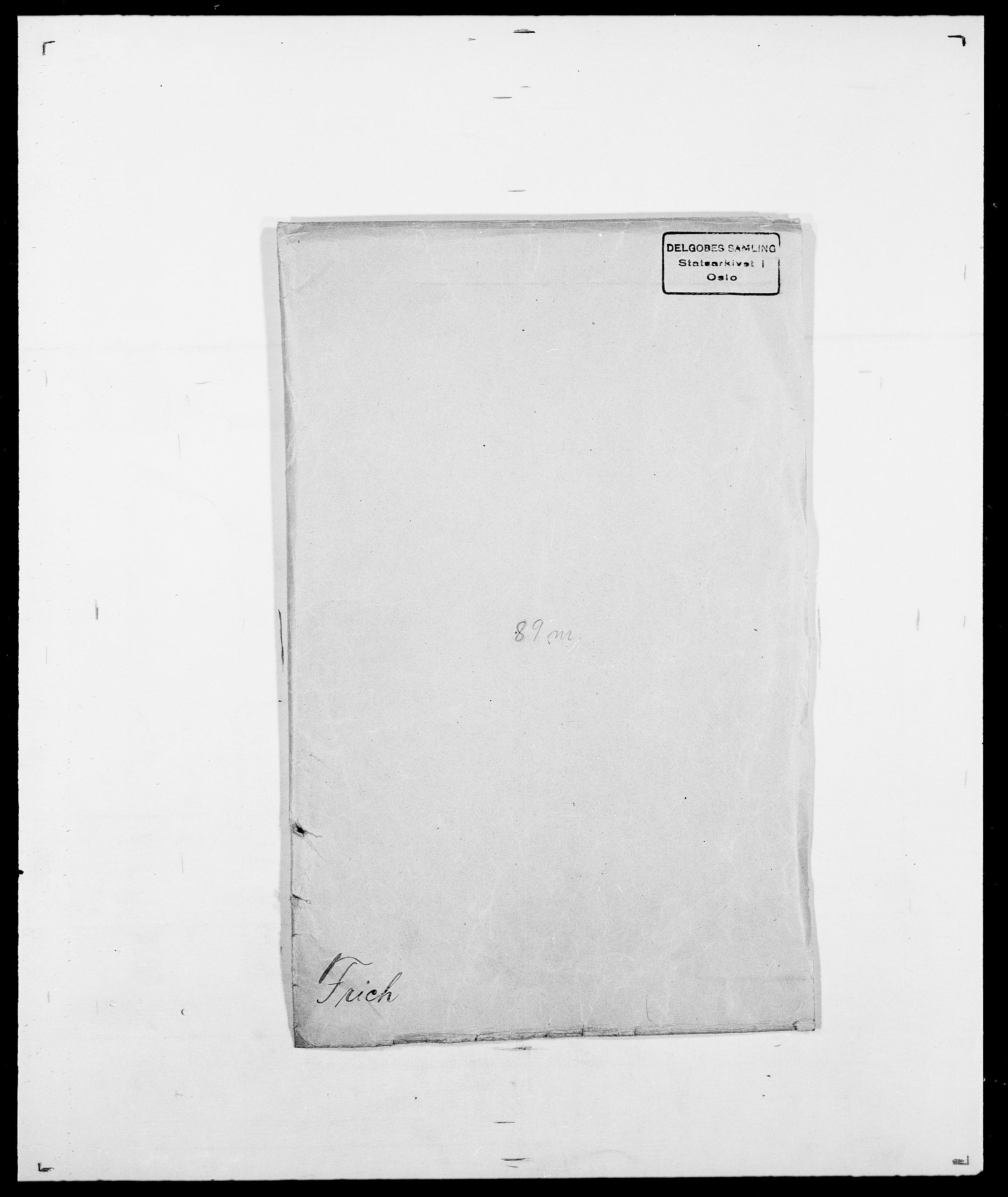 SAO, Delgobe, Charles Antoine - samling, D/Da/L0012: Flor, Floer, Flohr - Fritzner, s. 765