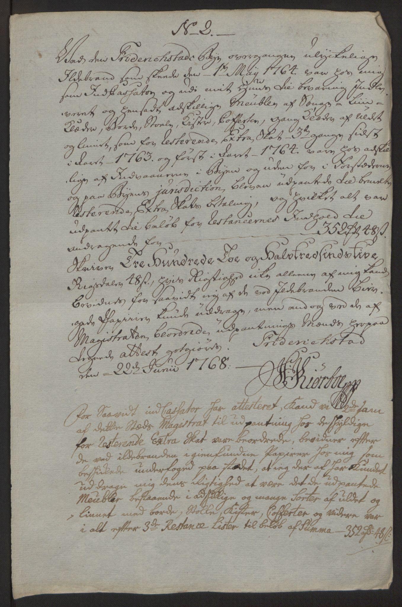RA, Rentekammeret inntil 1814, Reviderte regnskaper, Byregnskaper, R/Rb/L0029: [B3] Kontribusjonsregnskap, 1762-1772, s. 157