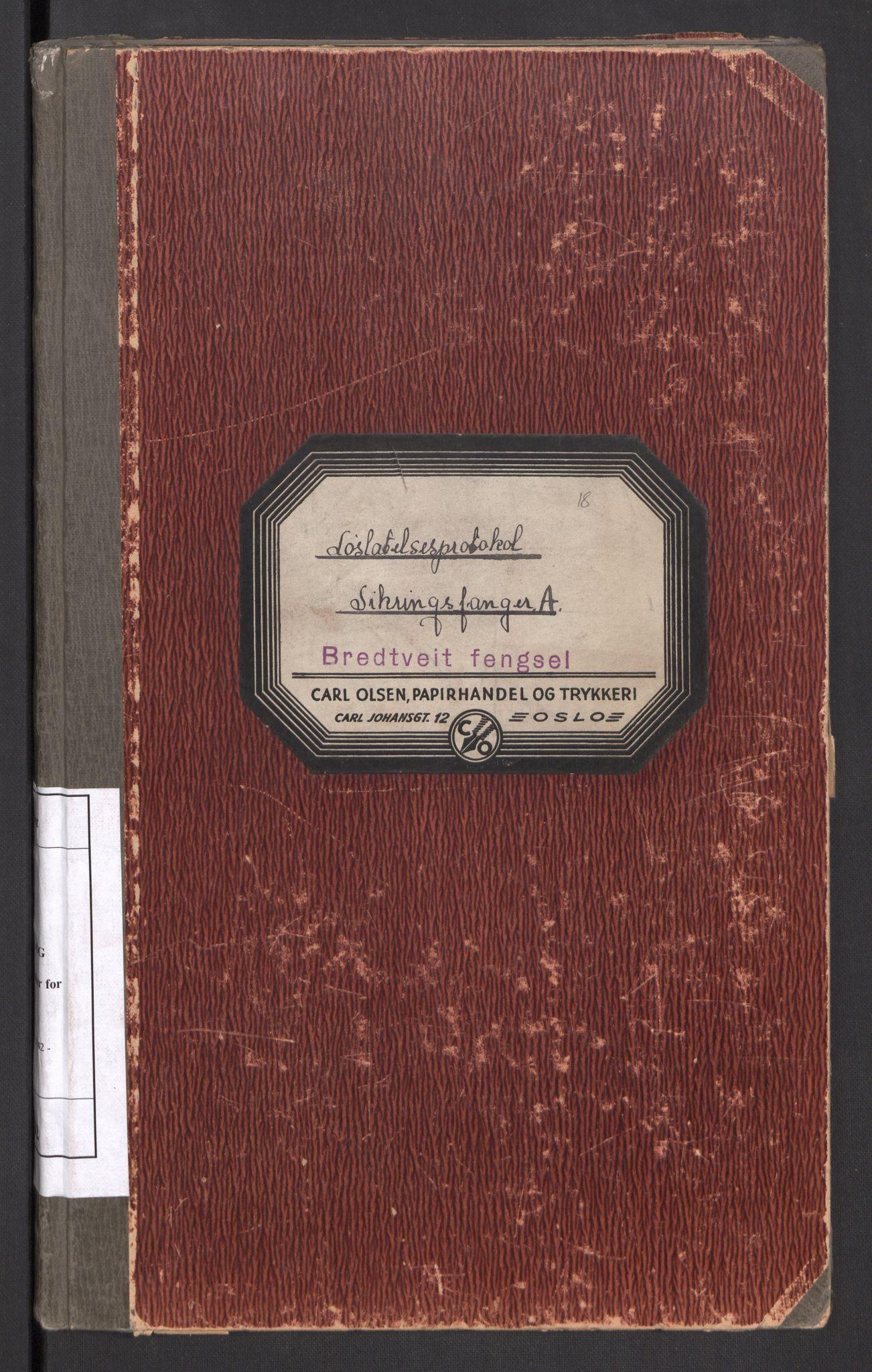 RA, Statspolitiet - Hovedkontoret / Osloavdelingen, C/Cl/L0012: Sikringsfanger A, 1942-1944