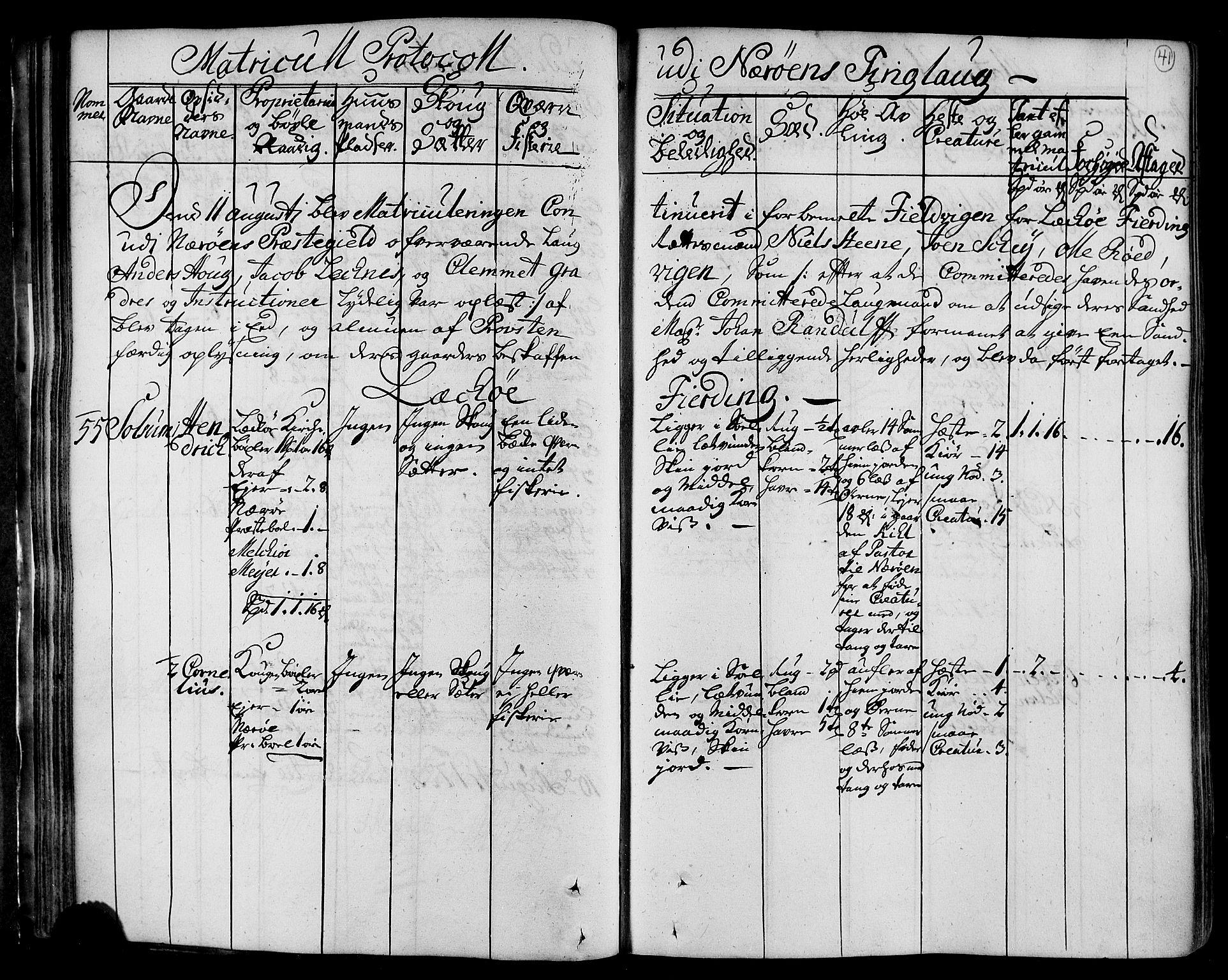 RA, Rentekammeret inntil 1814, Realistisk ordnet avdeling, N/Nb/Nbf/L0168: Namdalen eksaminasjonsprotokoll, 1723, s. 40b-41a