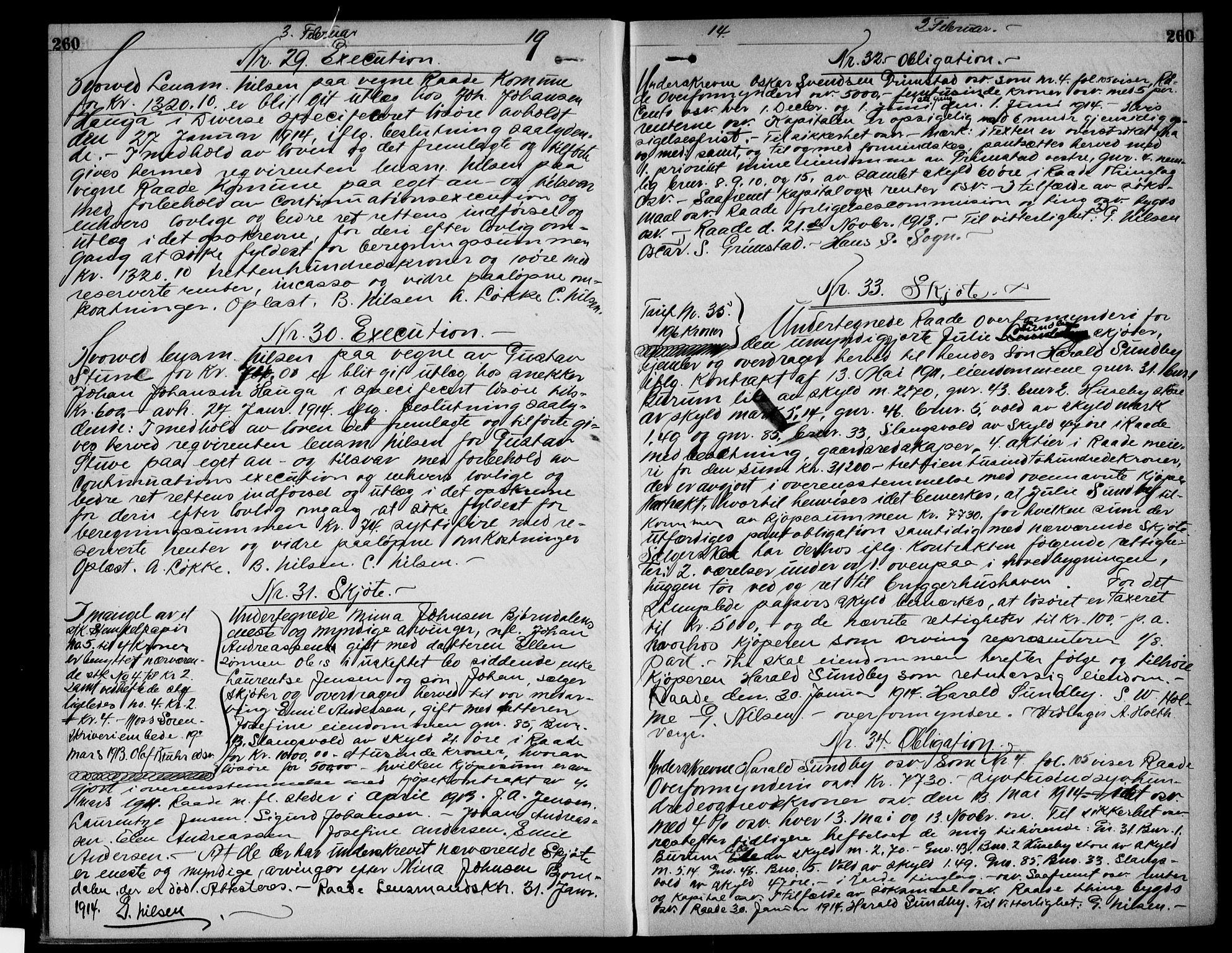 SAO, Moss sorenskriveri, Pantebok nr. 24, 1912-1915, s. 260