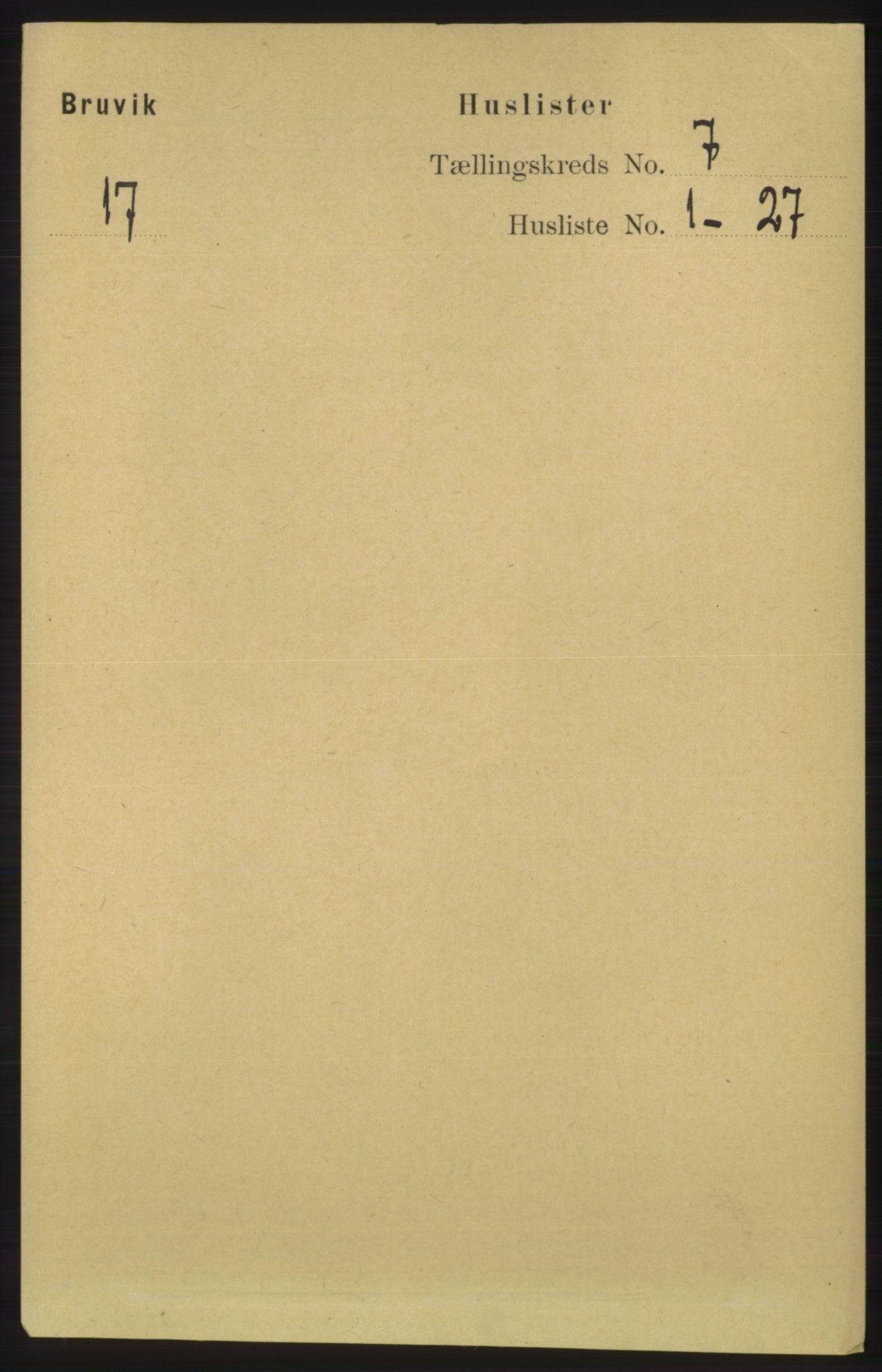 RA, Folketelling 1891 for 1251 Bruvik herred, 1891, s. 2016