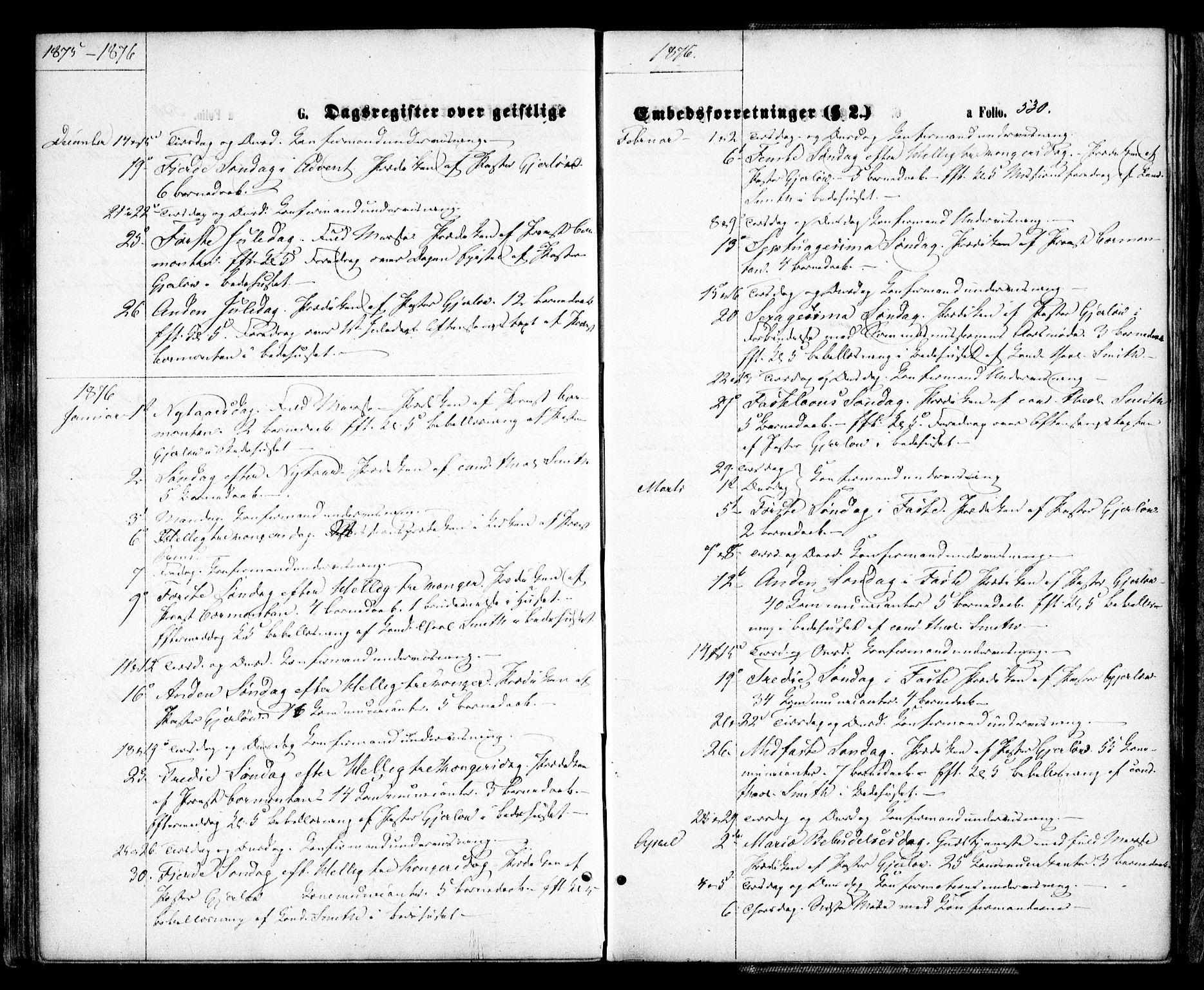 SAK, Arendal sokneprestkontor, Trefoldighet, F/Fa/L0007: Ministerialbok nr. A 7, 1868-1878, s. 530