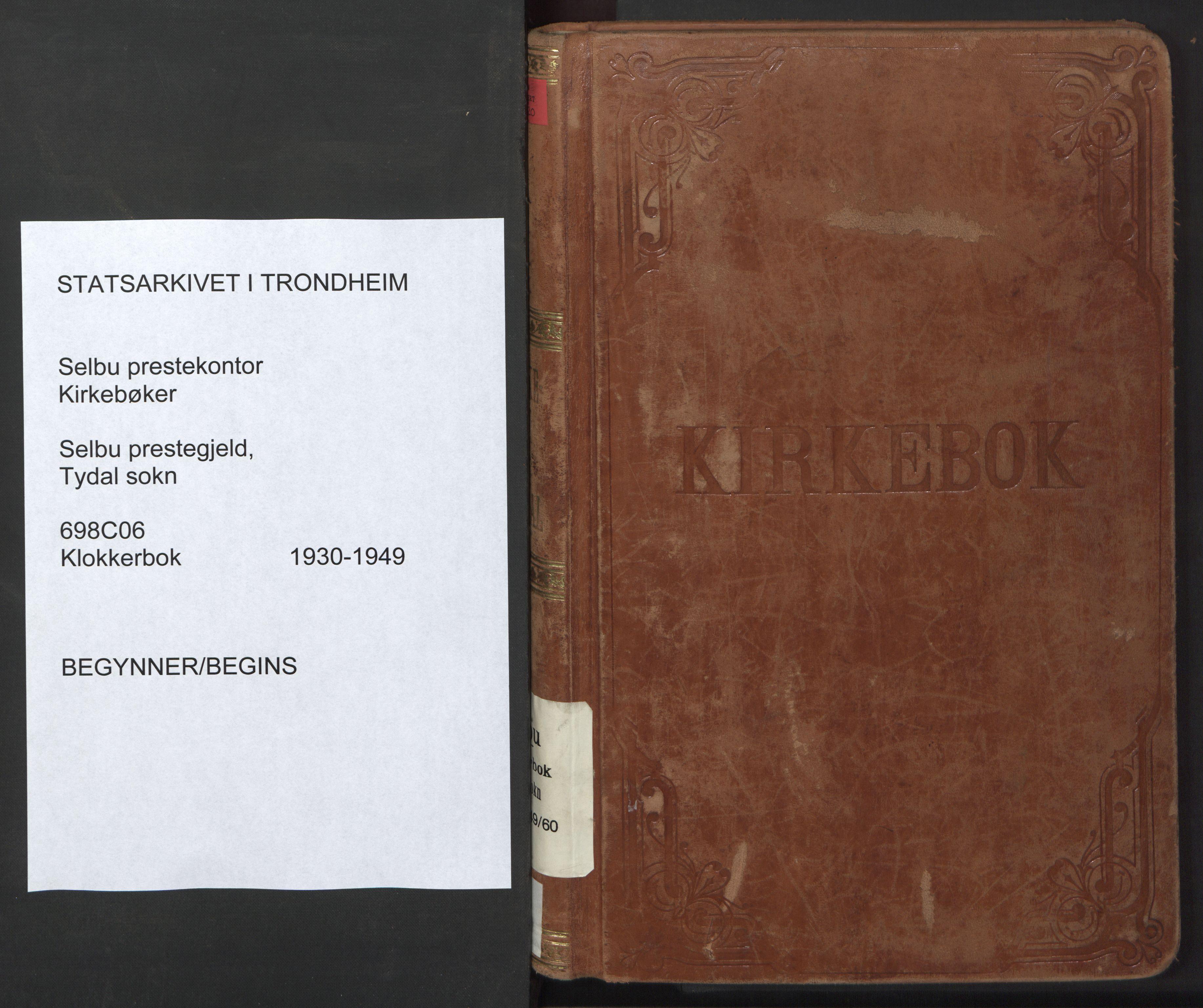 SAT, Ministerialprotokoller, klokkerbøker og fødselsregistre - Sør-Trøndelag, 698/L1169: Klokkerbok nr. 698C06, 1930-1949