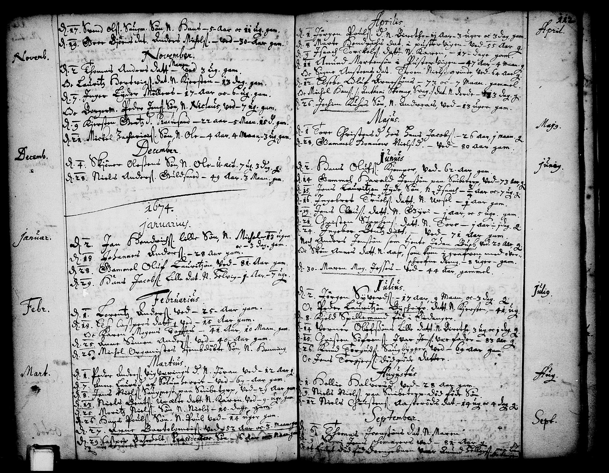 SAKO, Skien kirkebøker, F/Fa/L0001: Ministerialbok nr. 1, 1659-1679, s. 112