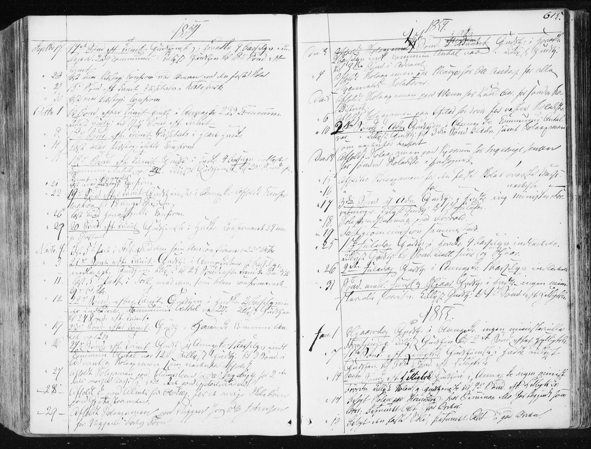 SAT, Ministerialprotokoller, klokkerbøker og fødselsregistre - Sør-Trøndelag, 665/L0771: Ministerialbok nr. 665A06, 1830-1856, s. 615